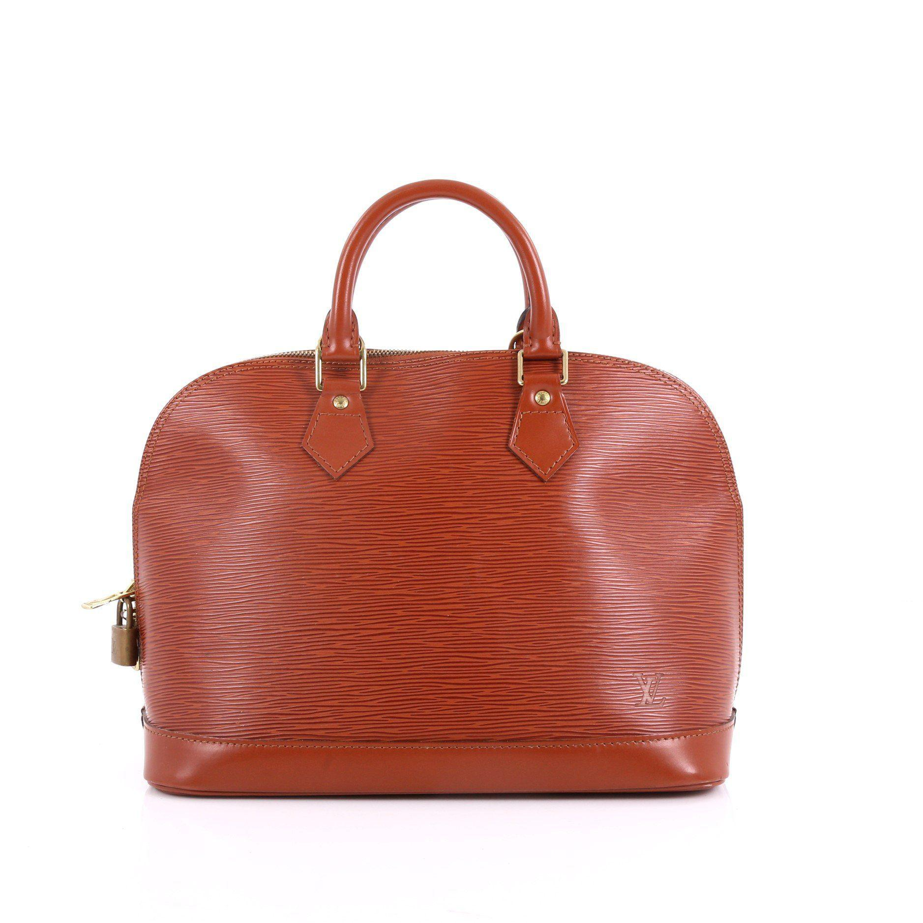 337063dad14a Louis Vuitton. Women s Red Pre Owned Vintage Alma Handbag Epi Leather Pm