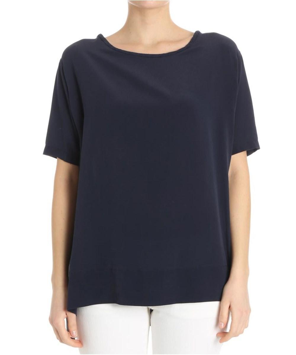 Sale Clearance Blue silk top ottod´Ame Big Sale For Sale XmRJ25