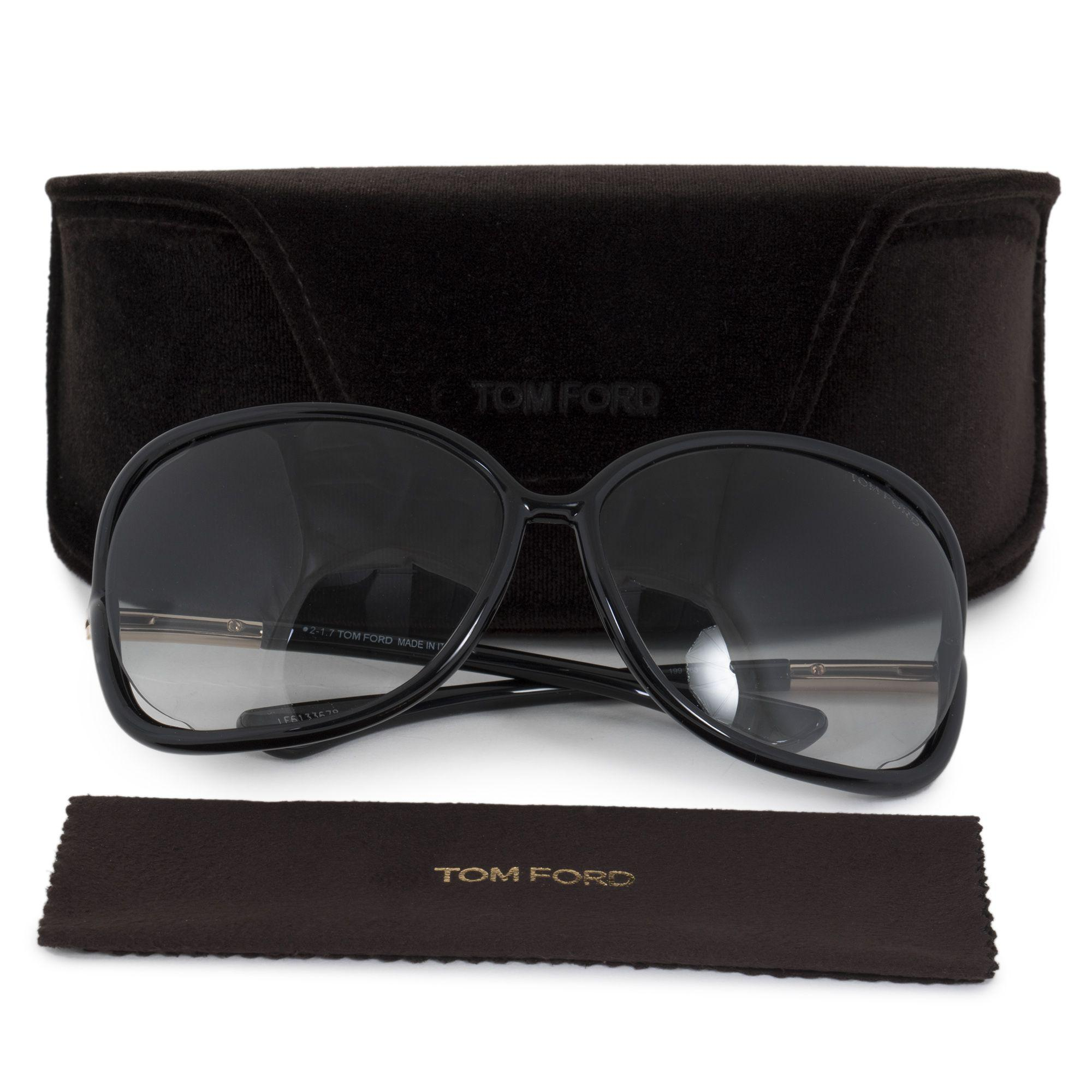 4ae3d5be827c Lyst - Tom Ford Butterfly Sunglasses Tf76 Raquel 199 Black gold Ft0076