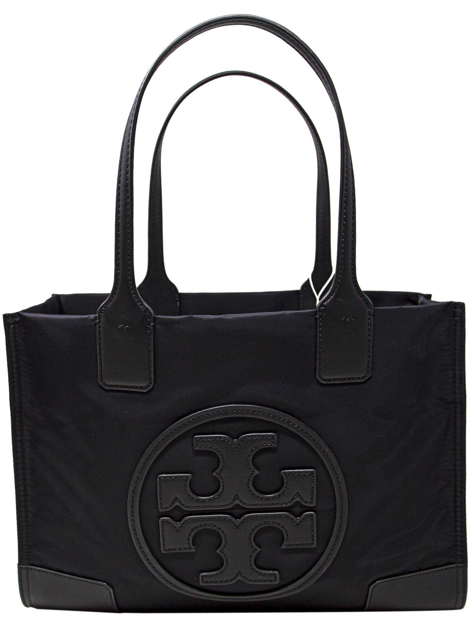 dde2150cda Lyst - Tory Burch Women s Mini Ella Nylon Top-handle Bag Tote in Black