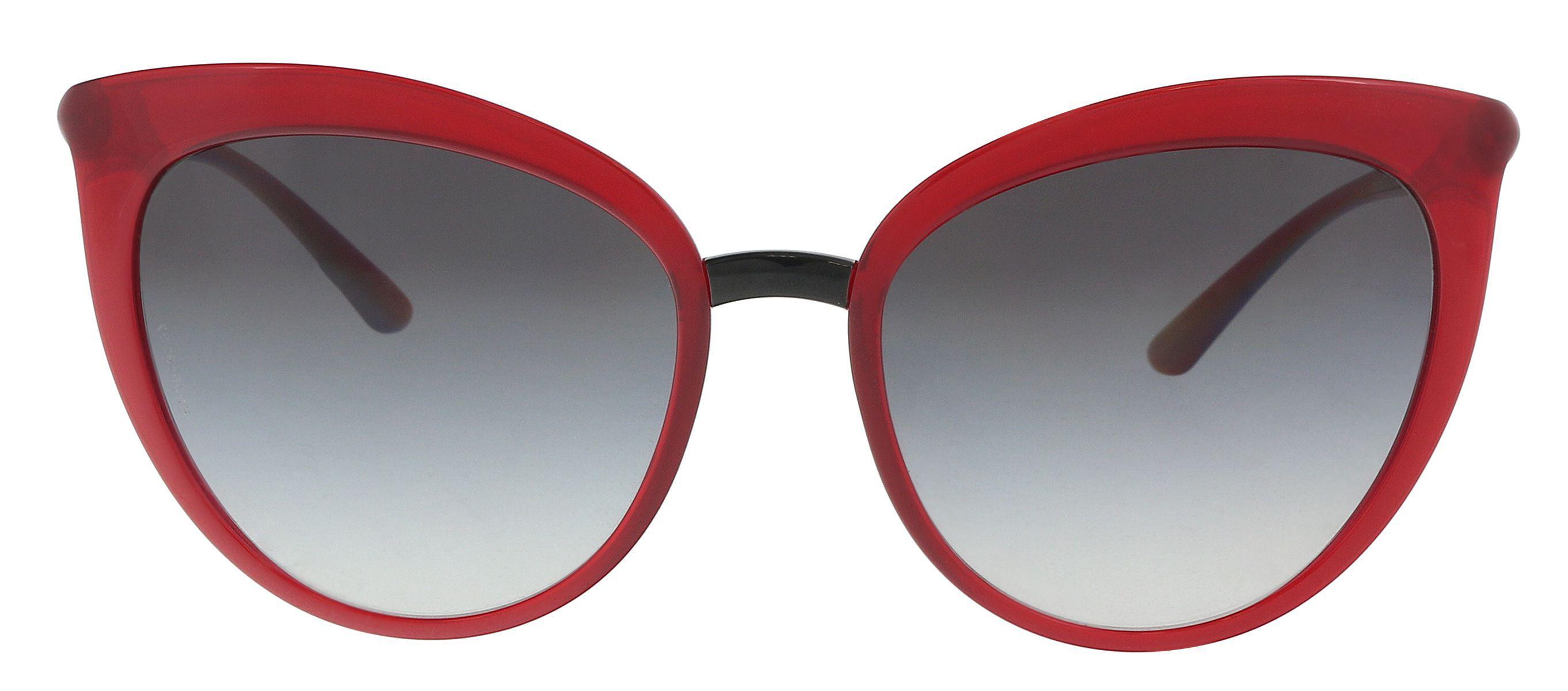 2781e3ecc1d Dolce   Gabbana. Women s Dg6113 30918g Transparent Bordeaux Cat Eye  Sunglasses