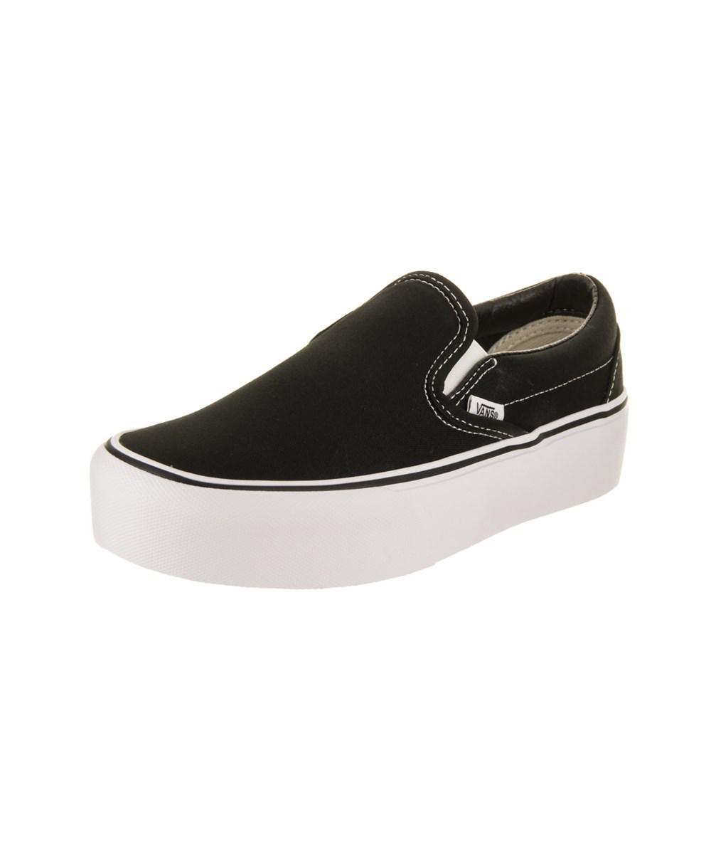 434c62b5b368 Lyst - Vans Unisex Classic Slip-on Platform Skate Shoe in Black