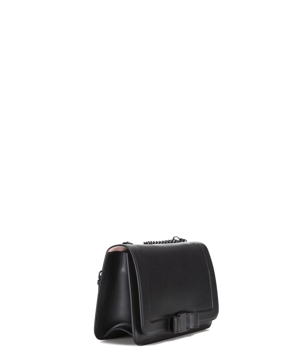a2061d291733 Lyst - Ferragamo Women s Black Leather Shoulder Bag in Black