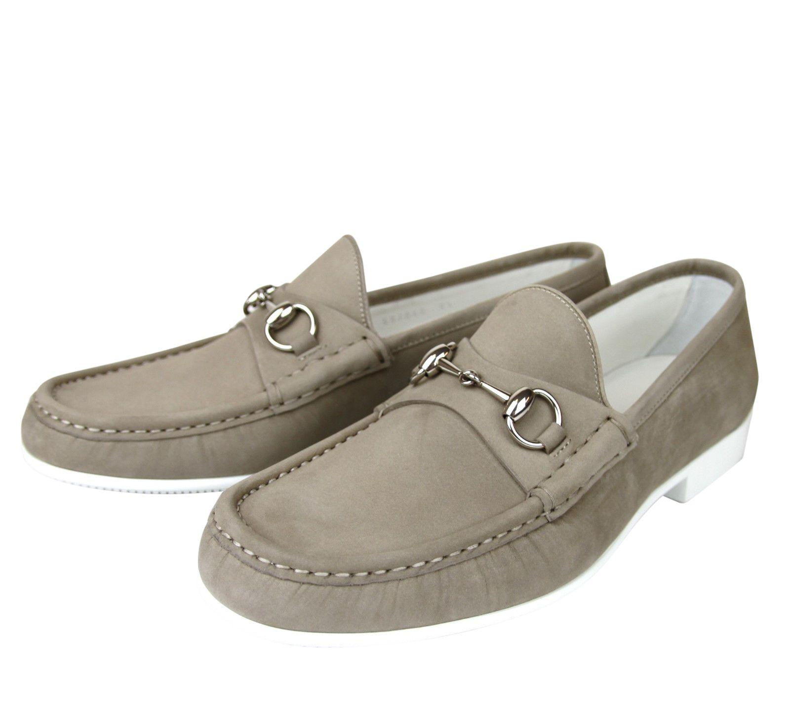 ce806509ef3 Lyst - Gucci Moccasin Suede Horsebit Loafer 337060 Bho00 in Natural ...