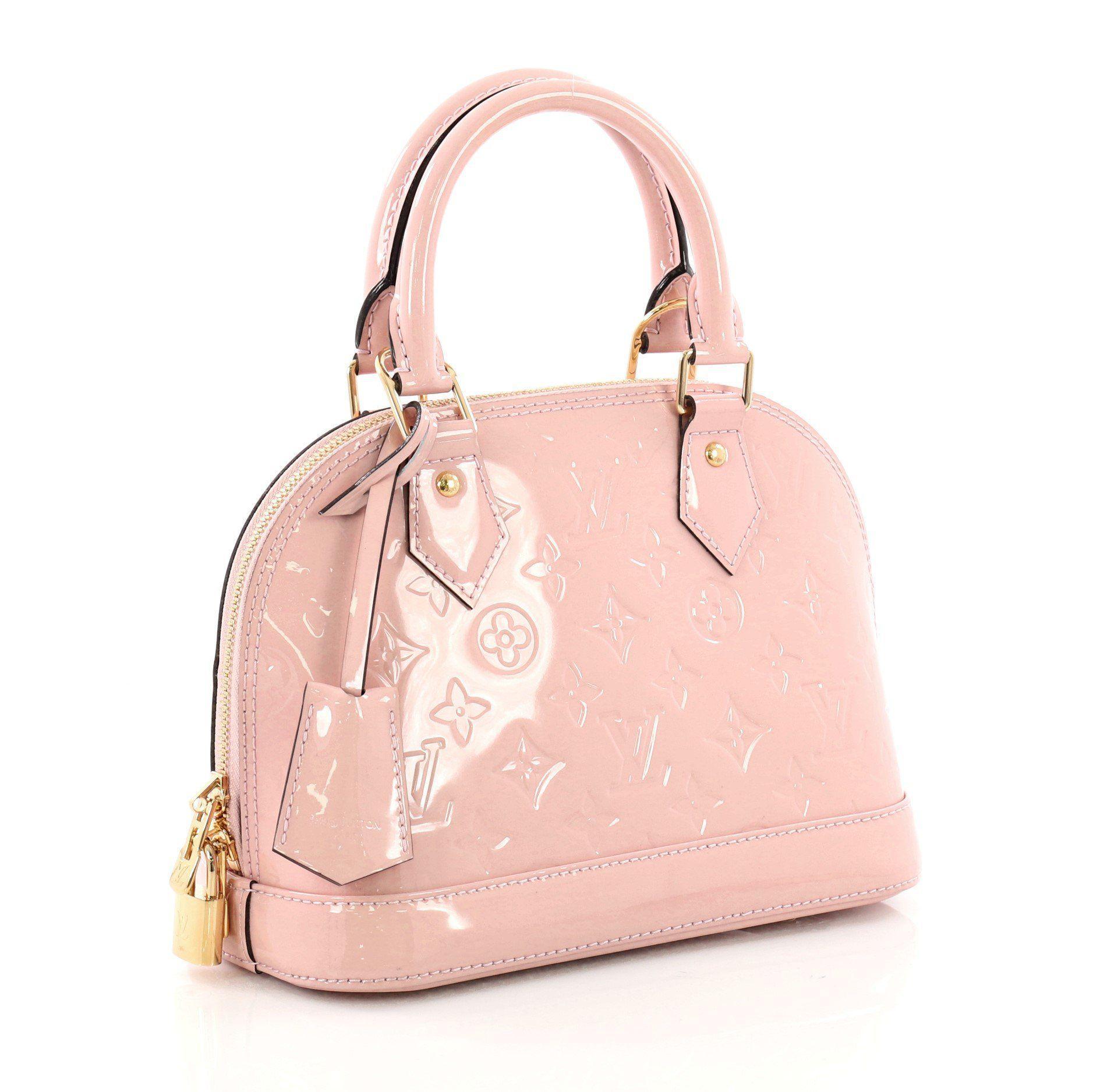 89bdb1dadc5 Louis Vuitton - Pink Pre Owned Alma Handbag Monogram Vernis Bb - Lyst. View  fullscreen