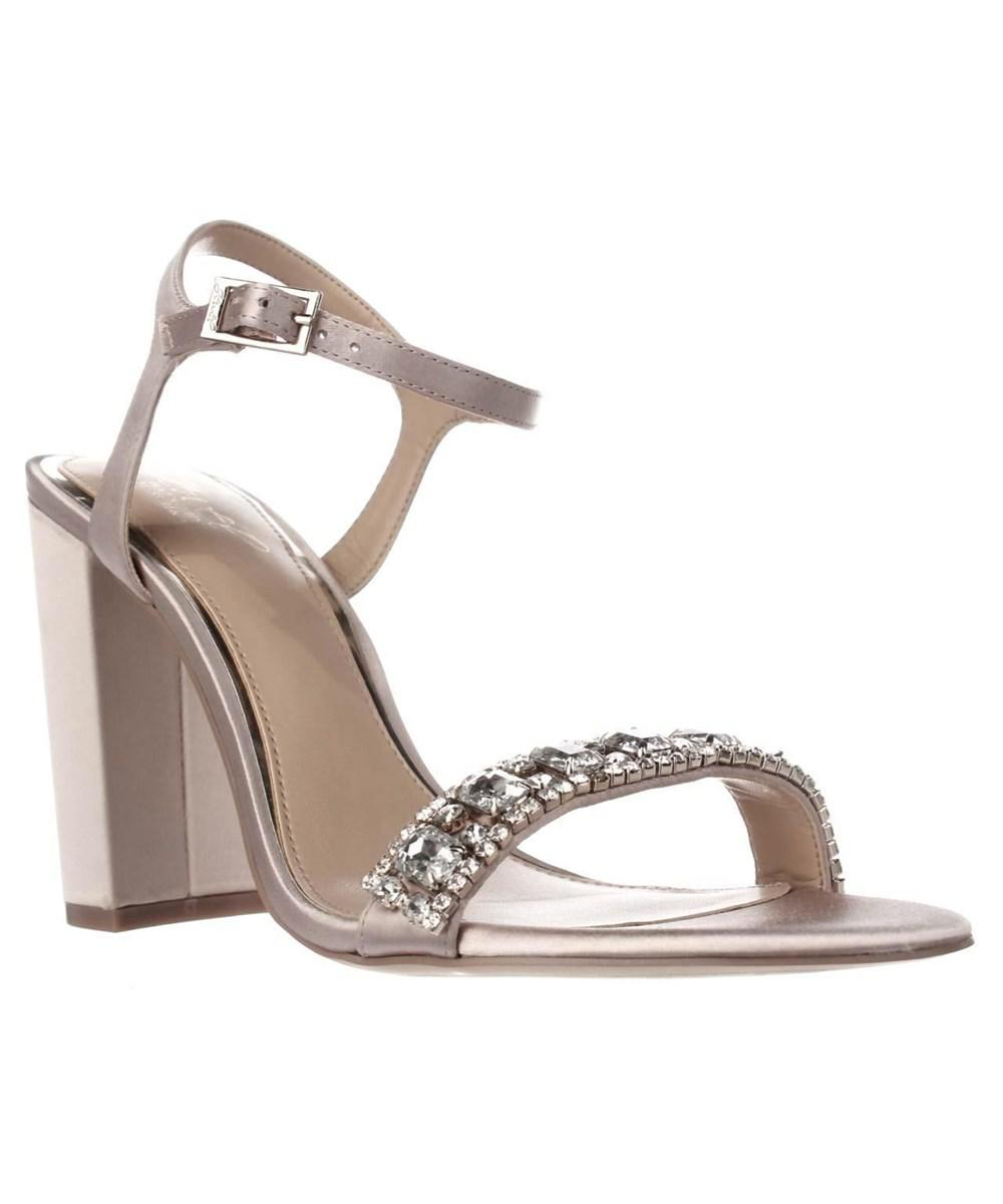 a3455bfe0ab8 Lyst - Badgley Mischka Jewel By Hendricks Rhinestone Dress Sandals ...