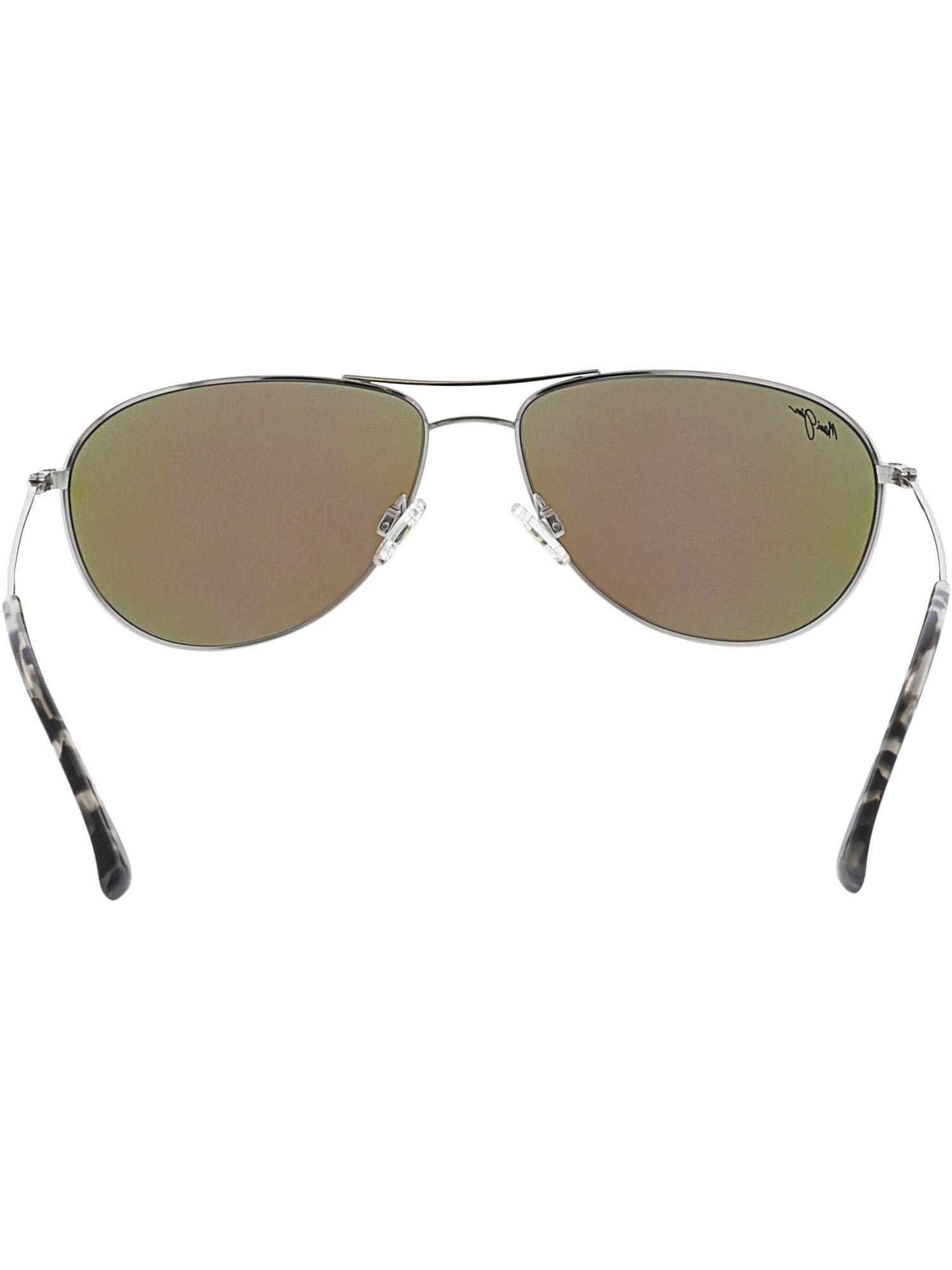 371233c0df263 Maui Jim - Metallic Women s Polarized Sea House B772-17 Silver Aviator  Sunglasses - Lyst. View fullscreen