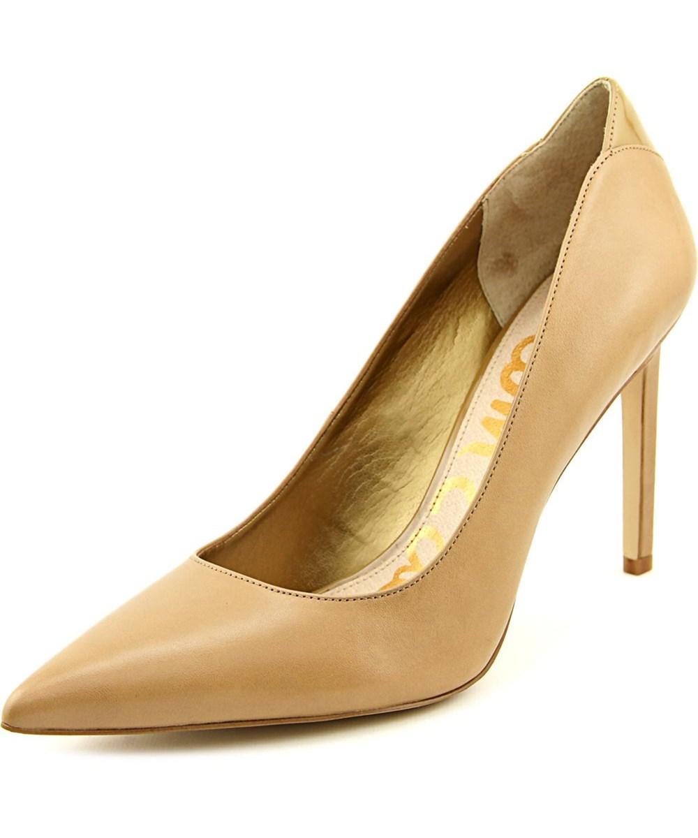 672f958e055 Lyst - Sam Edelman Dea Women Pointed Toe Leather Tan Heels in Natural