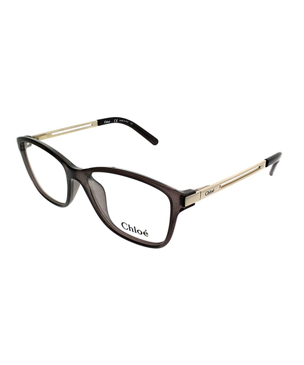 5c8889605bfa Lyst - Chloé Ce 2669 065 53mm Smoke Rectangle Eyeglasses