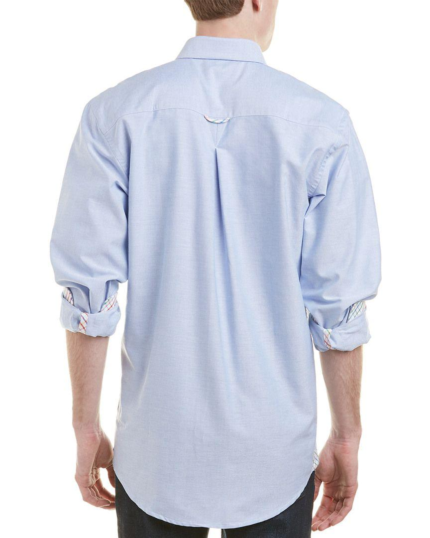Lyst Mine Apparel Inc Contrast Trimmed Oxford Shirt In Blue For