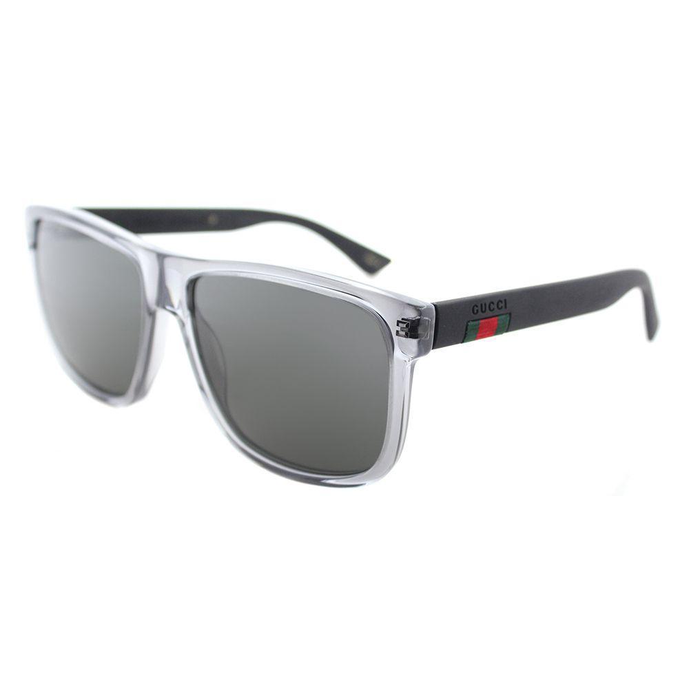 31ce0cb2f Lyst - Gucci GG 0010s 004 Grey Rectangle Sunglasses in Gray
