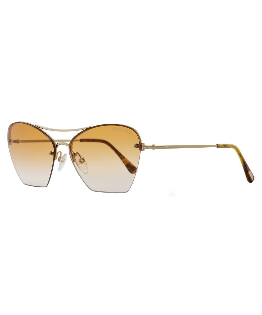 5c153202c5c Tom Ford. Women s Metallic Cateye Sunglasses Tf507 Annabel 28f Gold blonde  Havana Ft0507