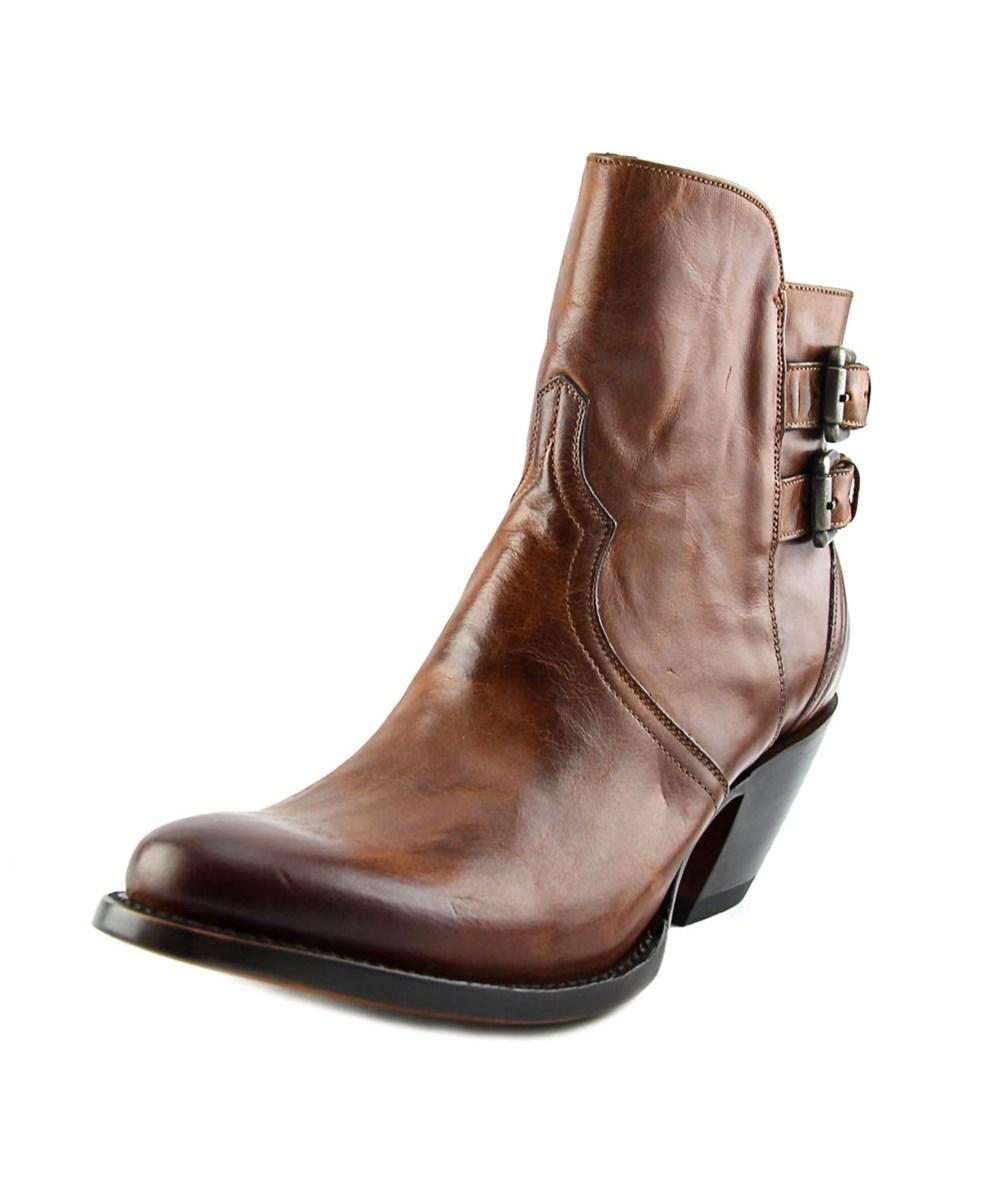 Lucchese Round-Toe Leather Ankle Boots