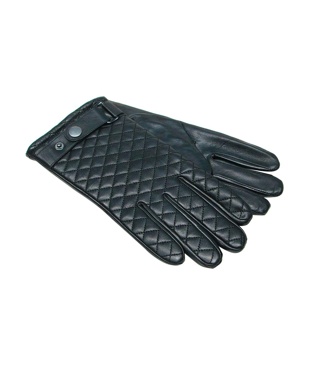 Leather driving gloves macys - Joseph Abboud Men S Black Quilted Leather Gloves