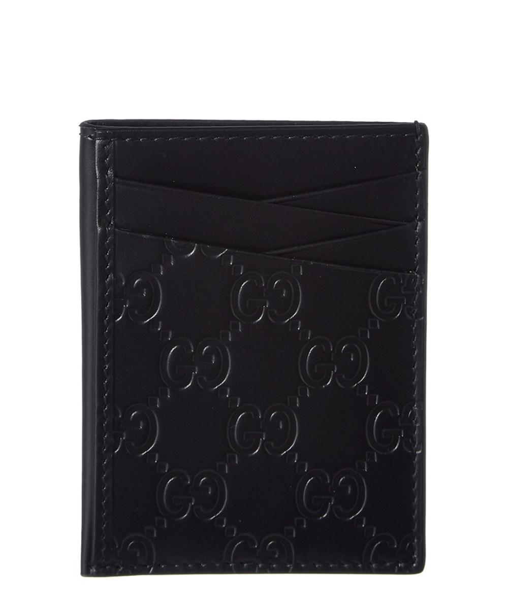 a01fa73bc881b Lyst - Gucci Mens Signature Leather Card Case