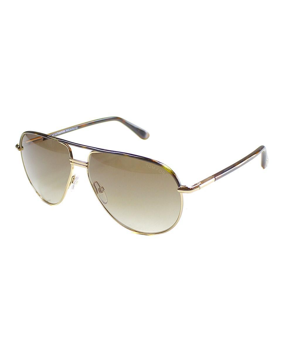 78c48f53f20 Lyst - Tom Ford Cole Pilot Metal Sunglasses in Metallic