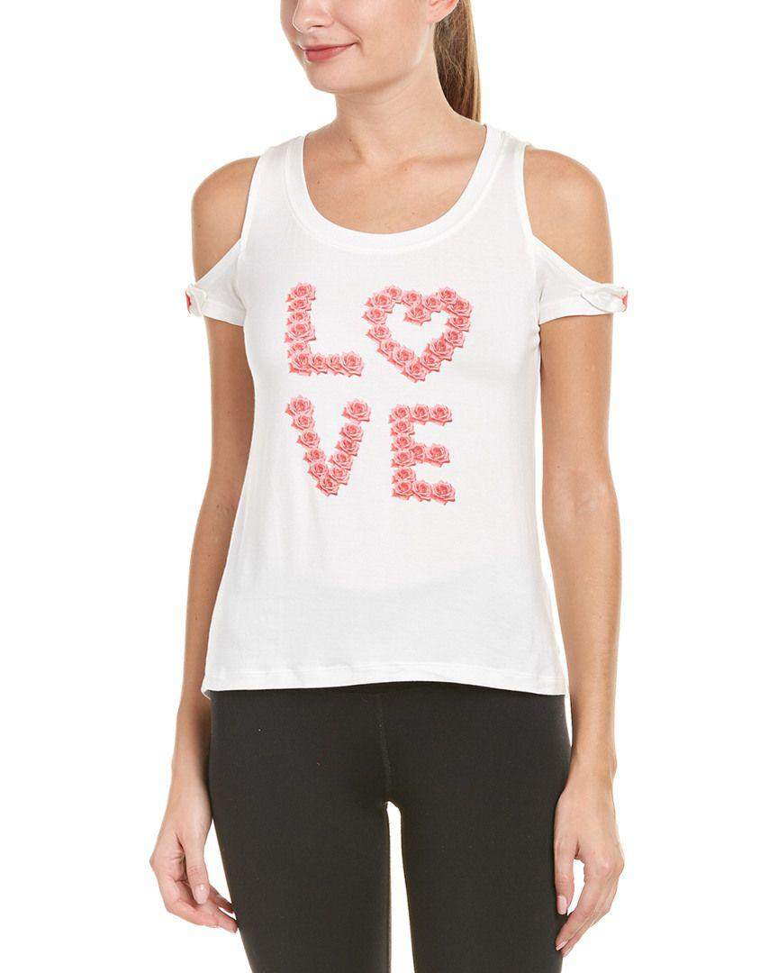 b405088f8f Lyst - Juicy Couture Black Label Cold-shoulder T-shirt in White