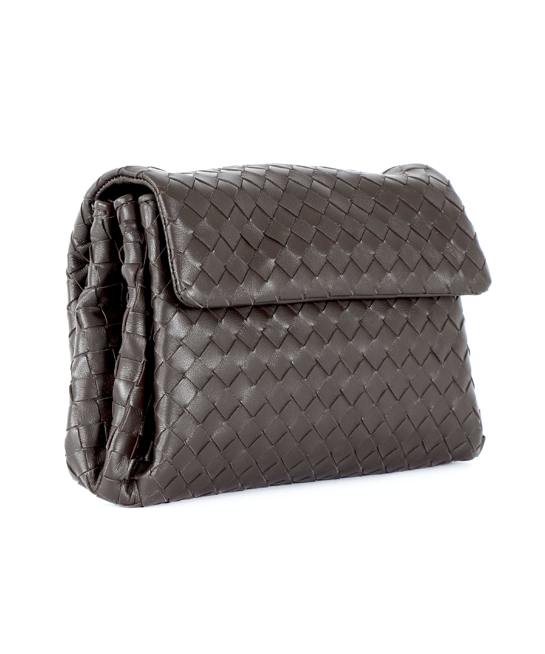 bottega veneta clutch in brown lyst. Black Bedroom Furniture Sets. Home Design Ideas