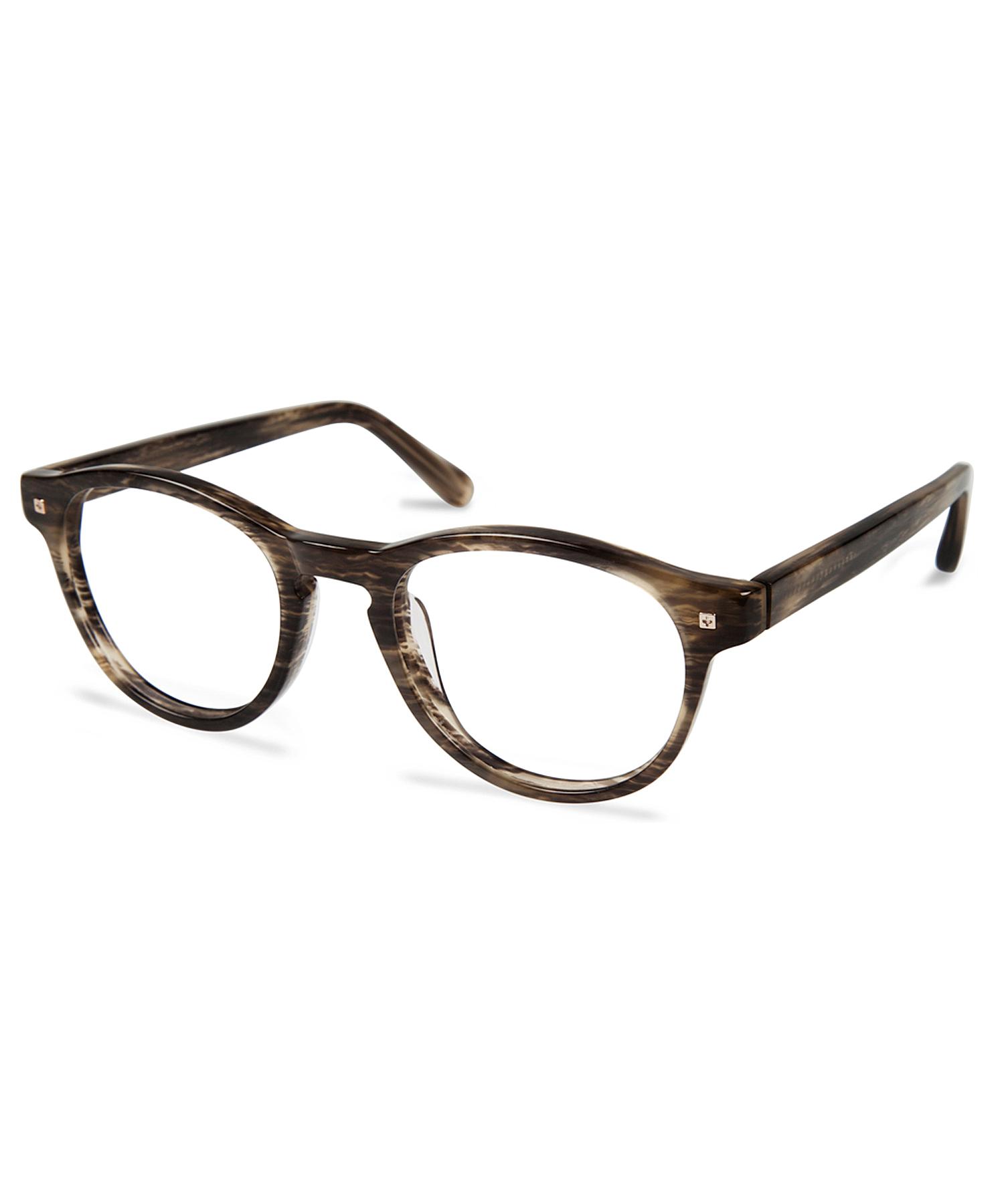 Green Eyeglass Frames Plastic : Cynthia rowley Green Horn Round Plastic Eyeglasses in ...