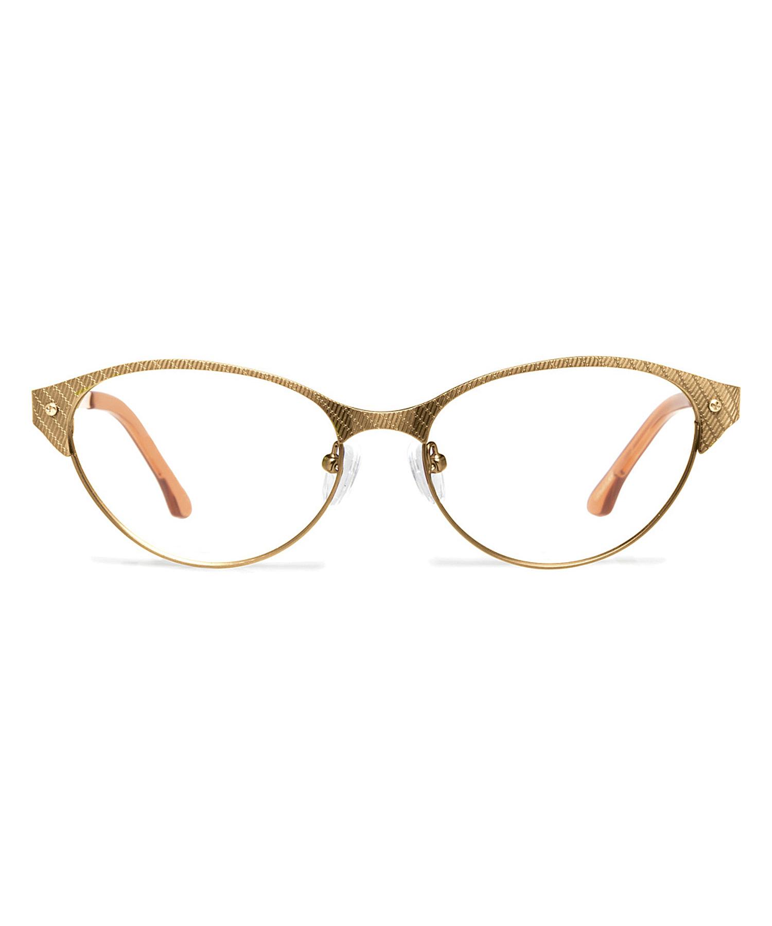 Gold Metal Eyeglass Frames : Cynthia rowley Japanese Gold Cat-eye Metal Eyeglasses in ...