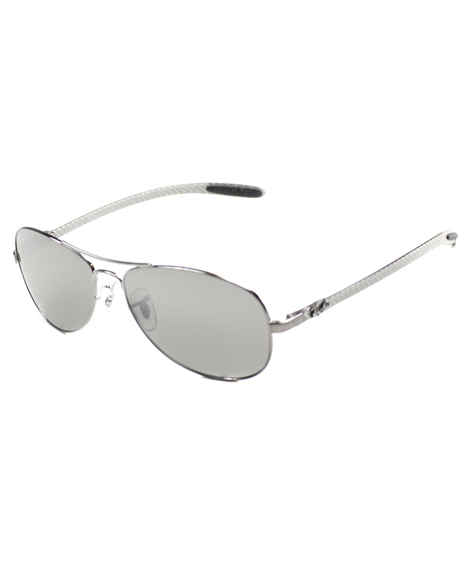 91f1853653 Ray-ban Carbon Fiber Cockpit Aviator Metal Sunglasses in Metallic (silver)  - Save