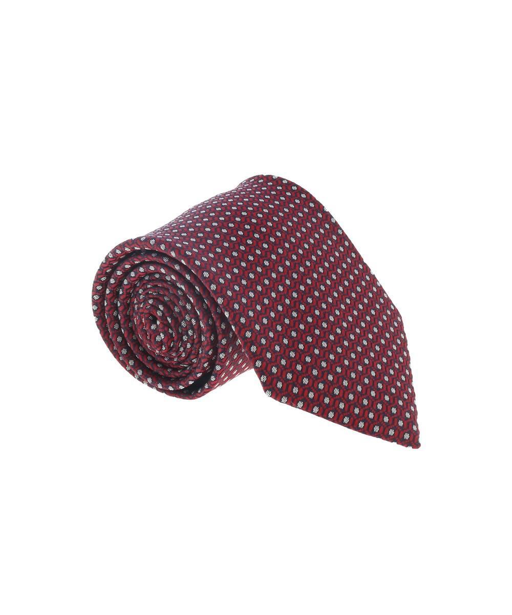 3ff16df6 Lyst - Ermenegildo Zegna Navy Blue 100% Silk Hexagon Stripe Tie in ...