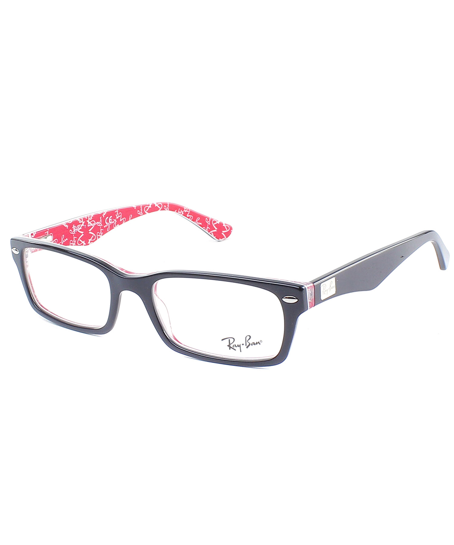 ban rectangle plastic eyeglasses in black lyst
