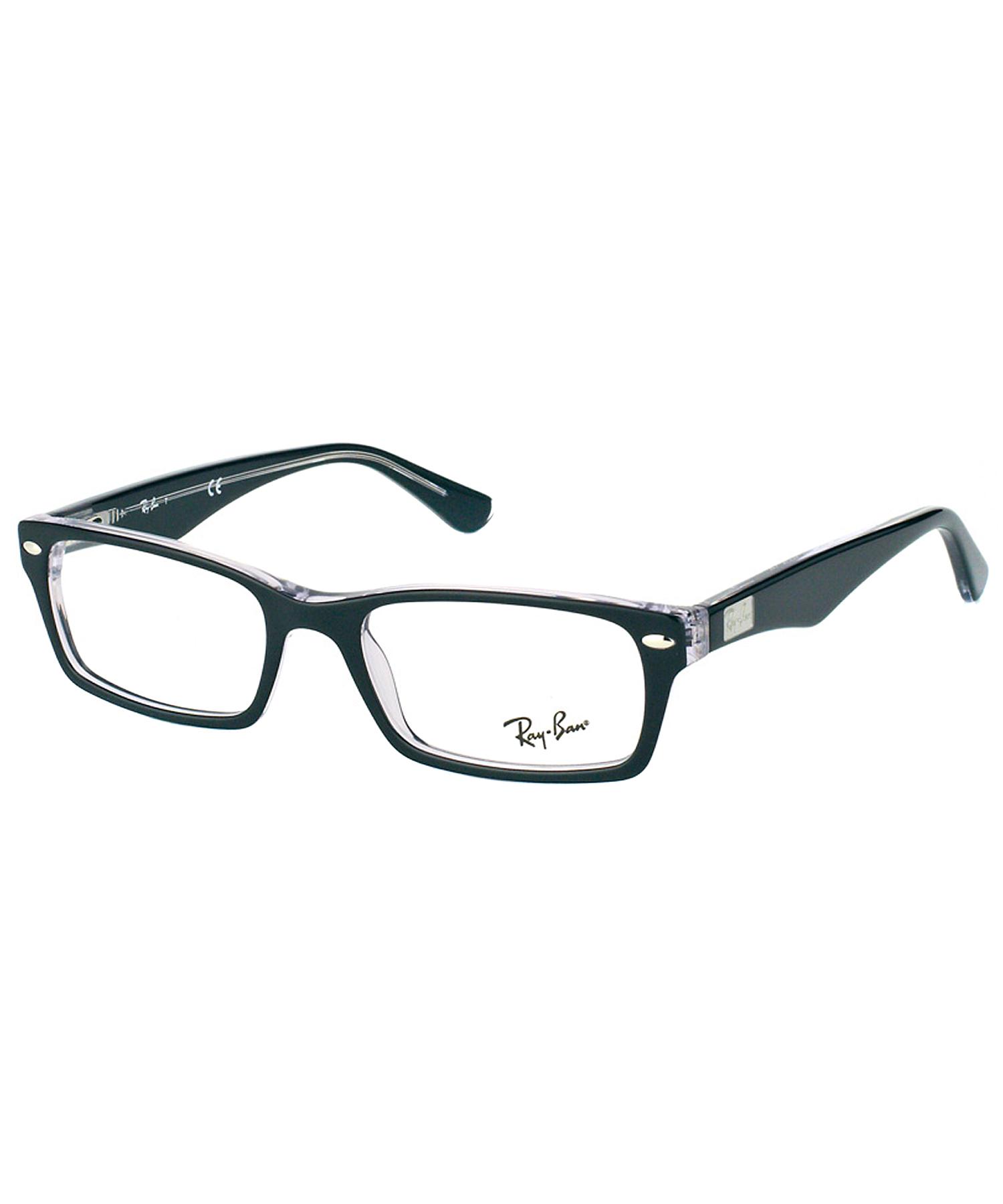 ban rectangle plastic eyeglasses in black lyst
