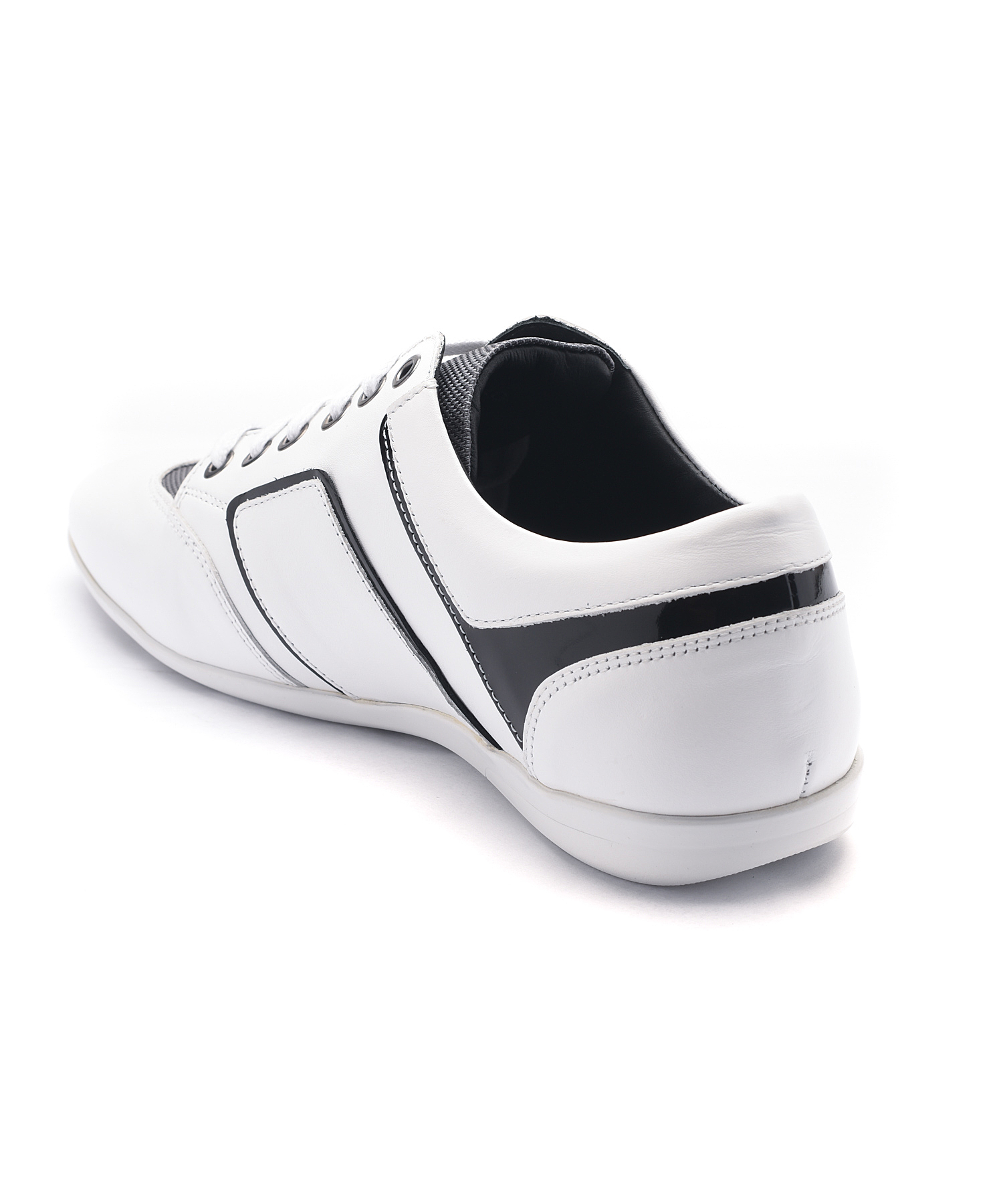 versace leather low top sneakers in white for lyst