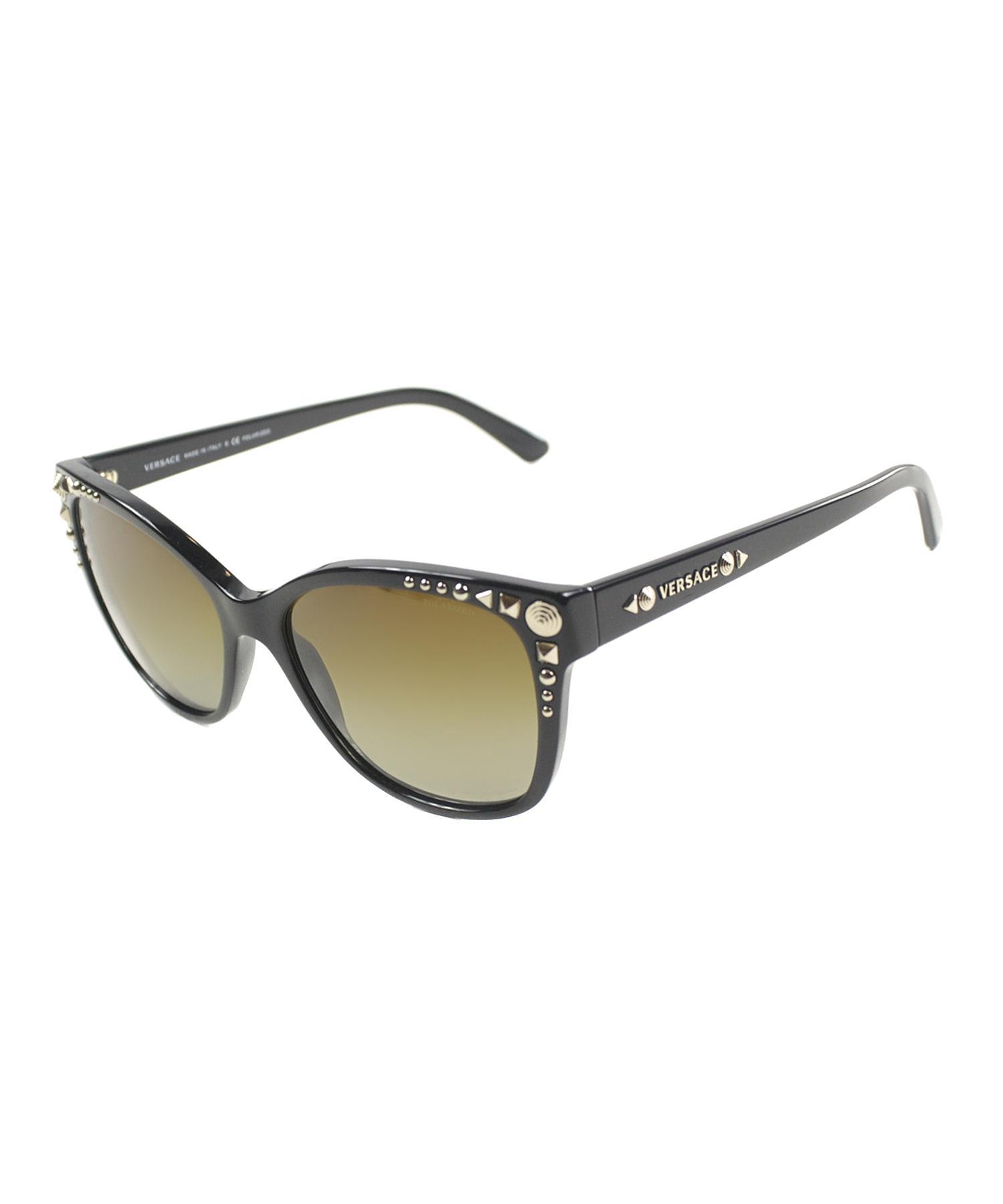 Versace Fashion Plastic Sunglasses in Black