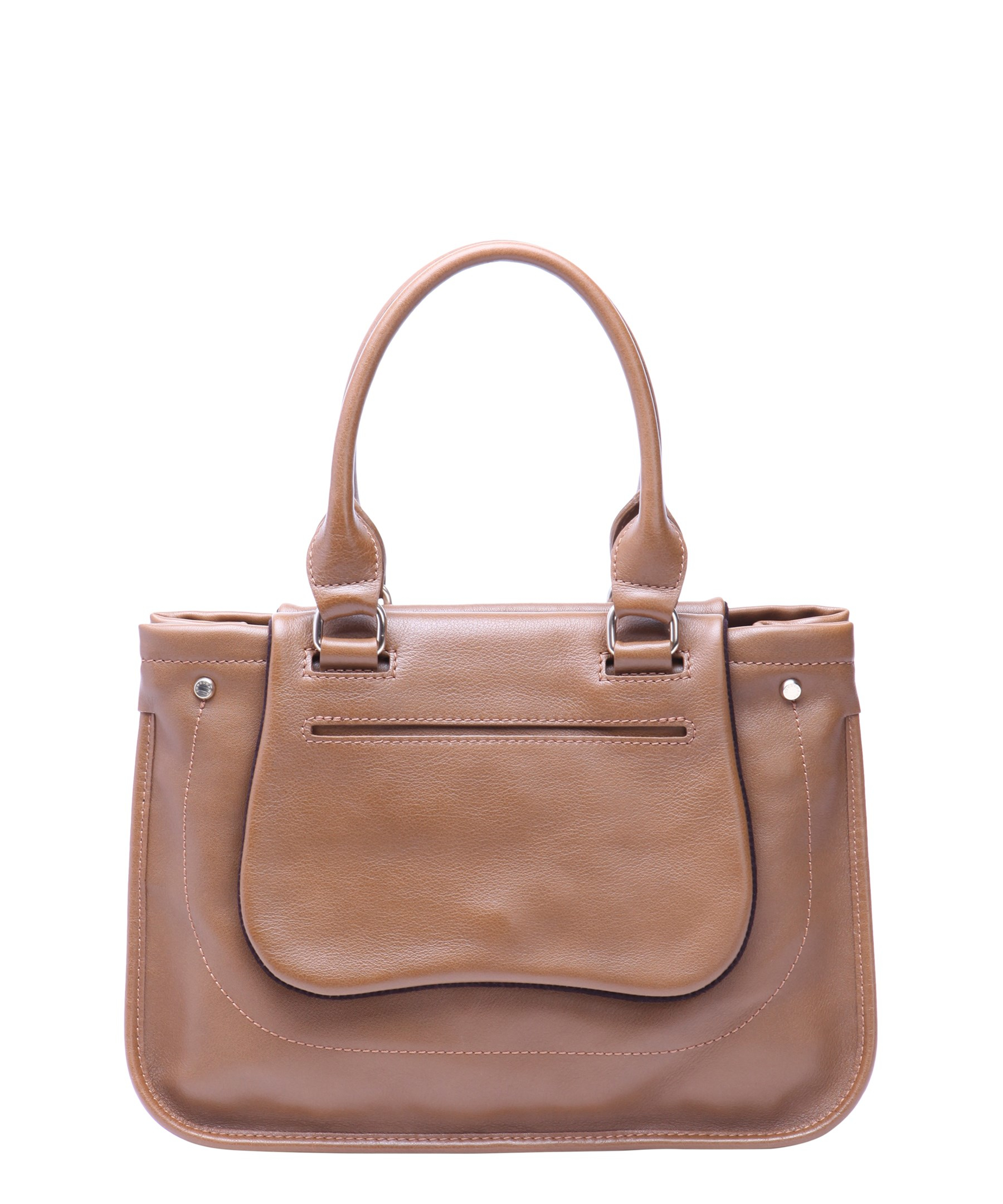 Longchamp Laukut Tori : Longchamp brown leather buckle front tote bag in lyst