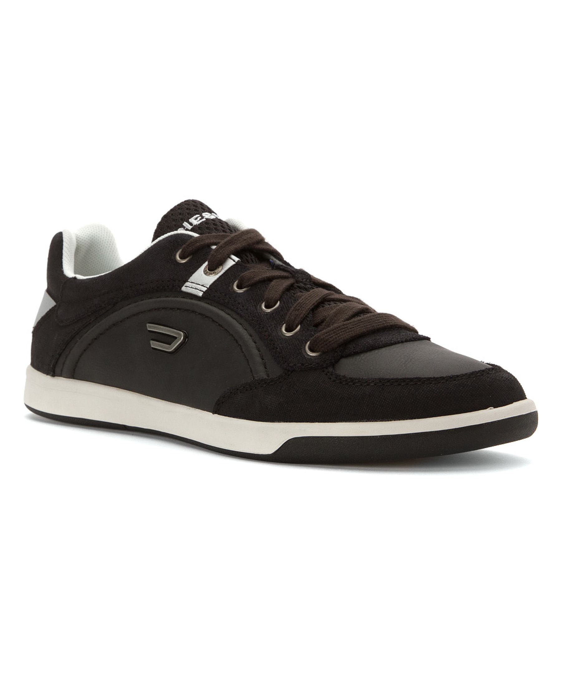 diesel mens eastcop starch fashion sneakers in black for