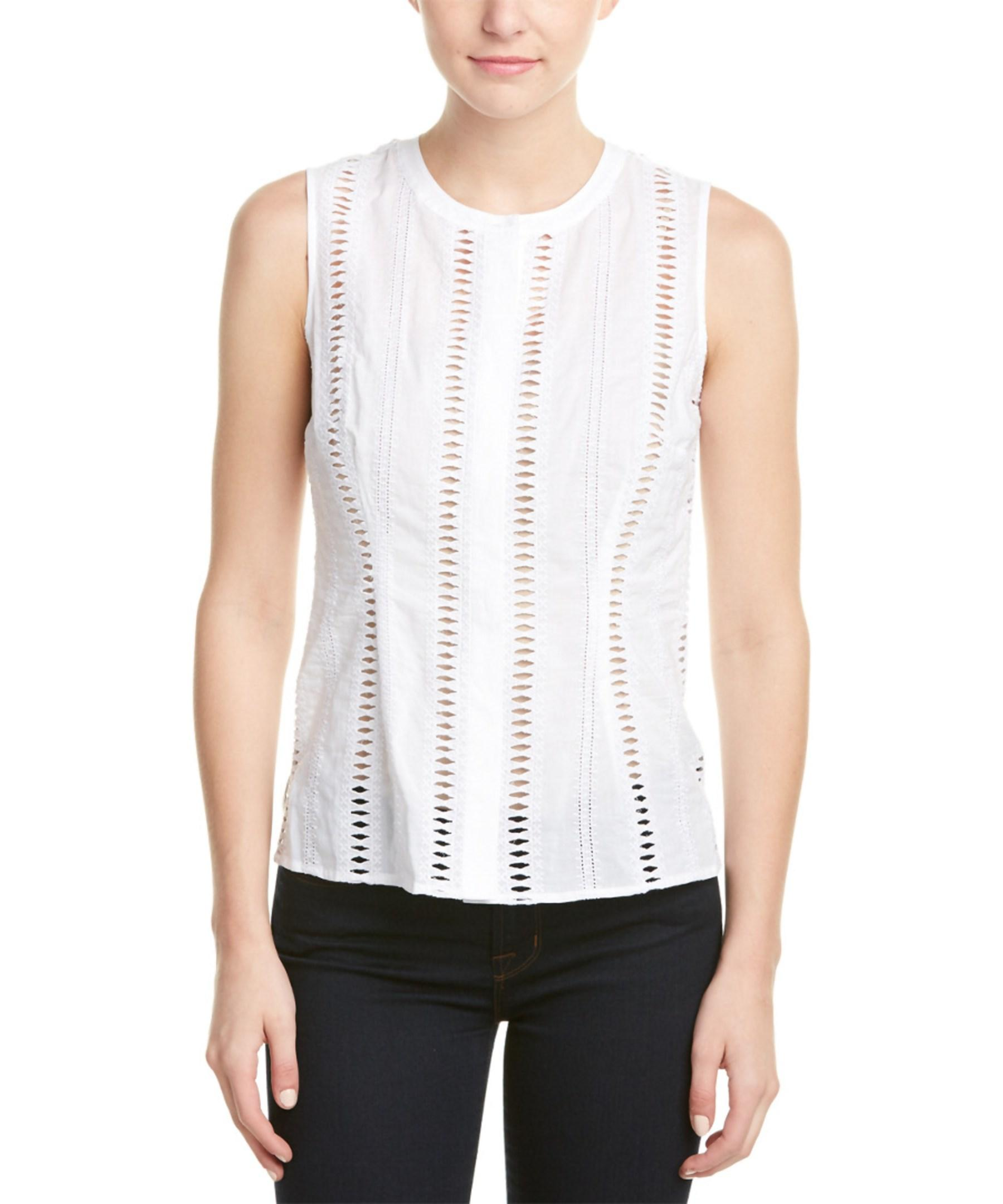 laundry by shelli segal laundry by shelli segal top in white lyst 12096