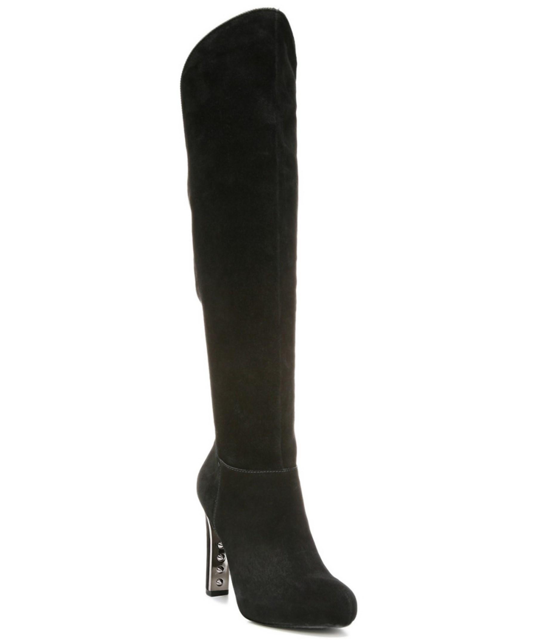 fergie herbie suede boot in black lyst