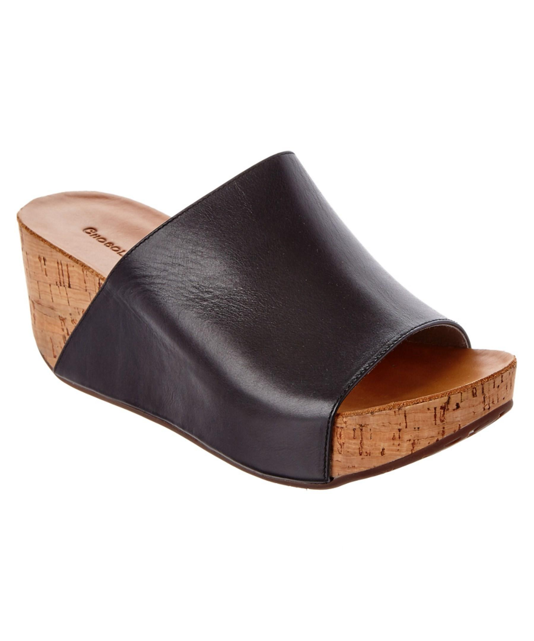 a1ccaa8bf9a Lyst - Chocolat Blu Manny Leather Wedge Sandal in Black