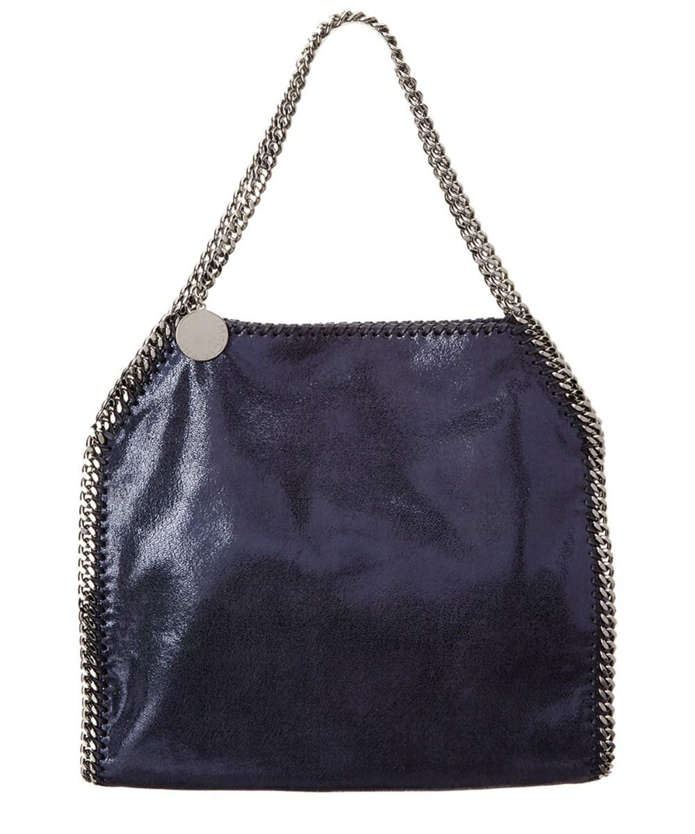 60aa2287c7bf Lyst - Stella Mccartney Falabella Shaggy Deer Small Tote in Blue