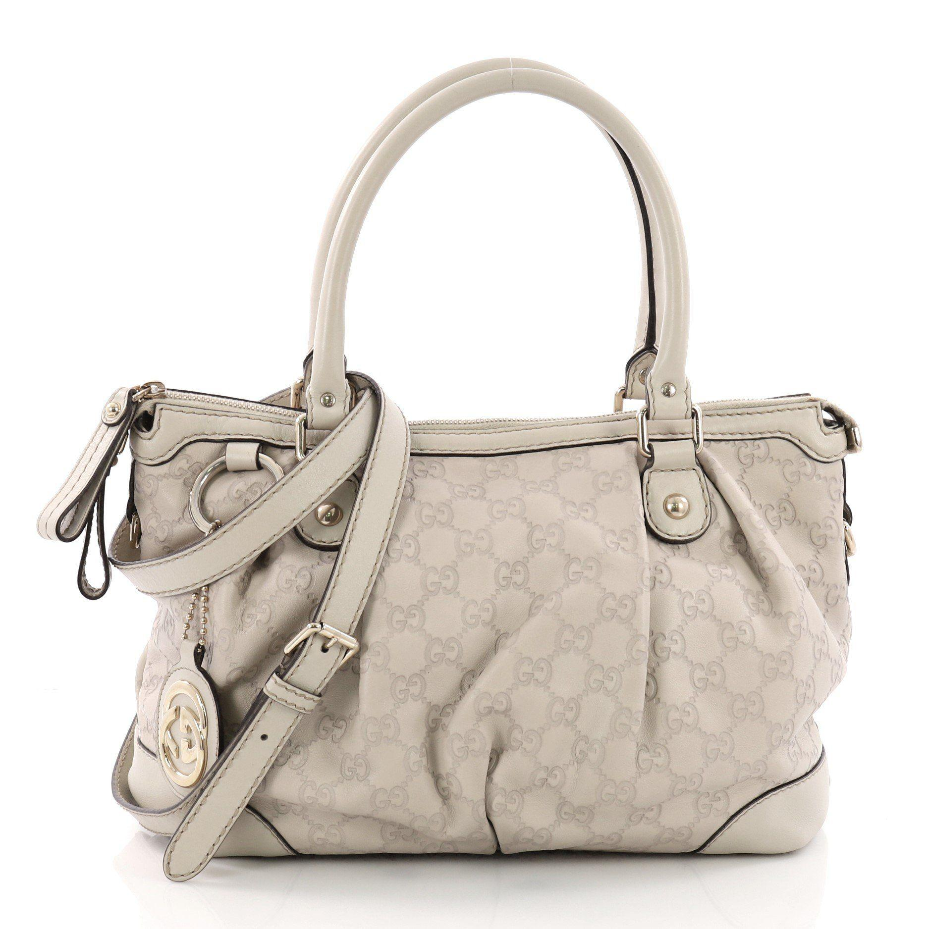 a95368e880d0 Gucci. Women's Pre Owned Sukey Top Handle Satchel Ssima Leather Medium