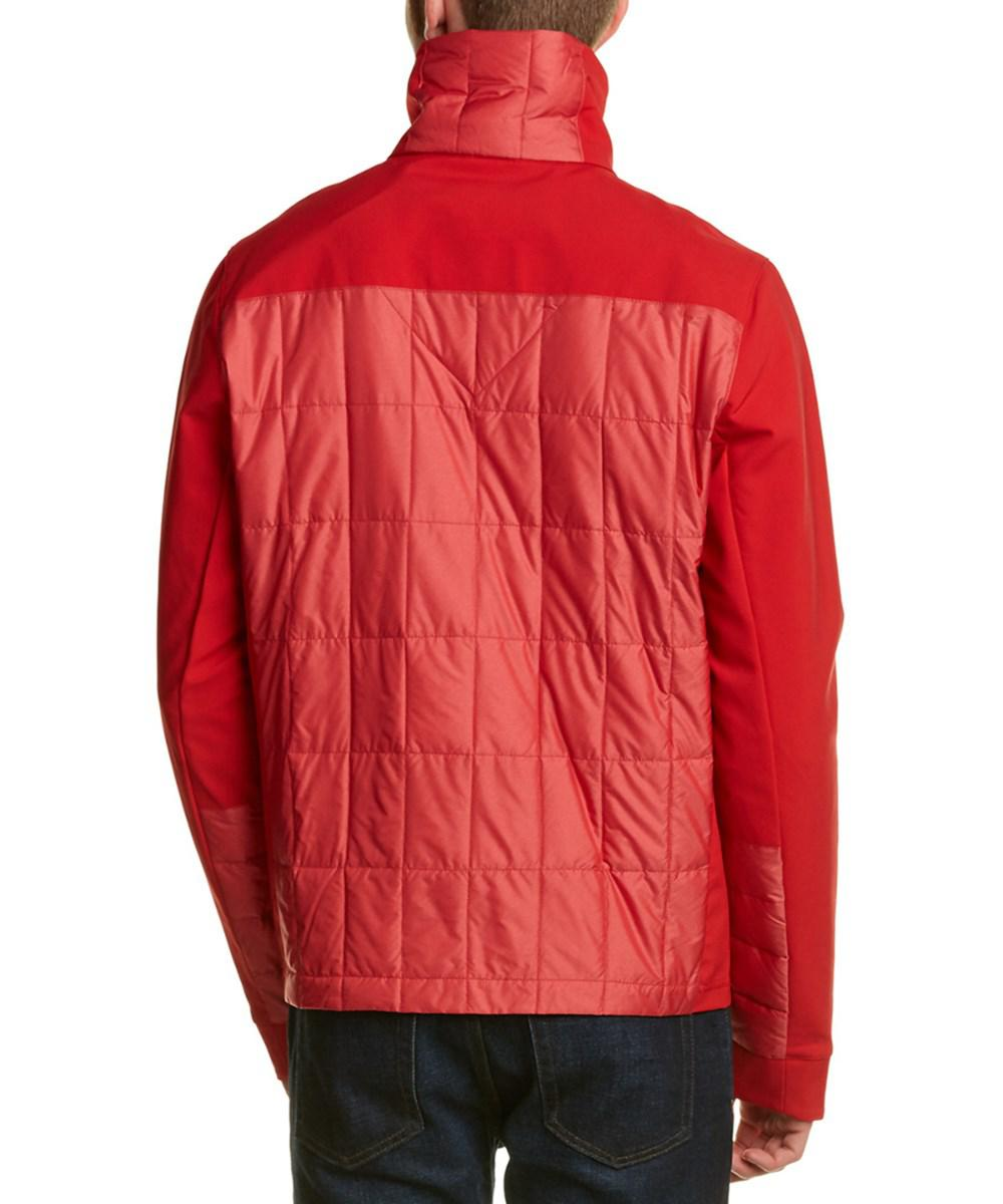 29cf26f9781ee ... hot lyst canada goose fernie quilted panel down jacket in red for men  6d310 3272c