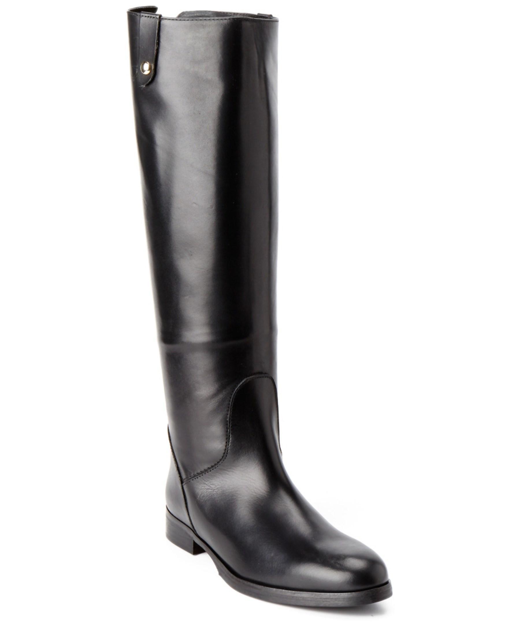 charles david jola leather boot in black lyst