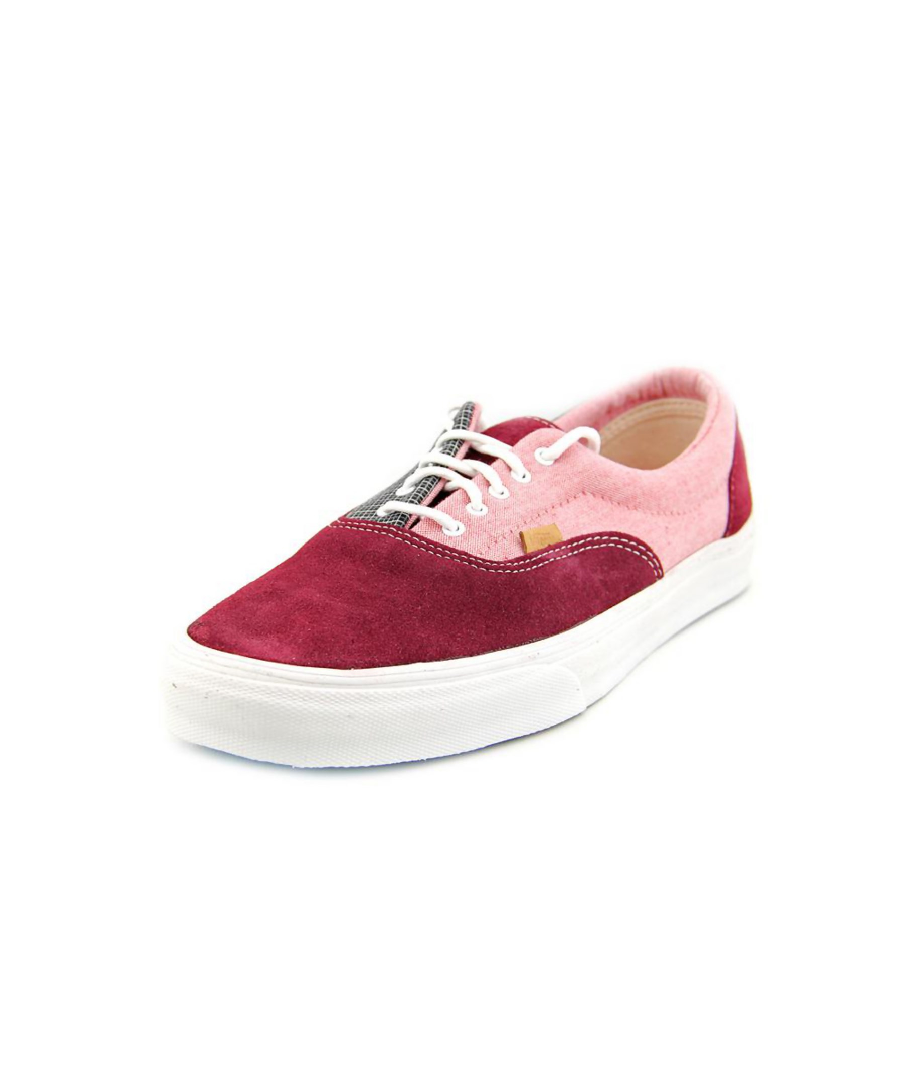 Vans Era Ca Men Round Toe Suede Burgundy Sneakers in Multicolor for Men (red) | Lyst