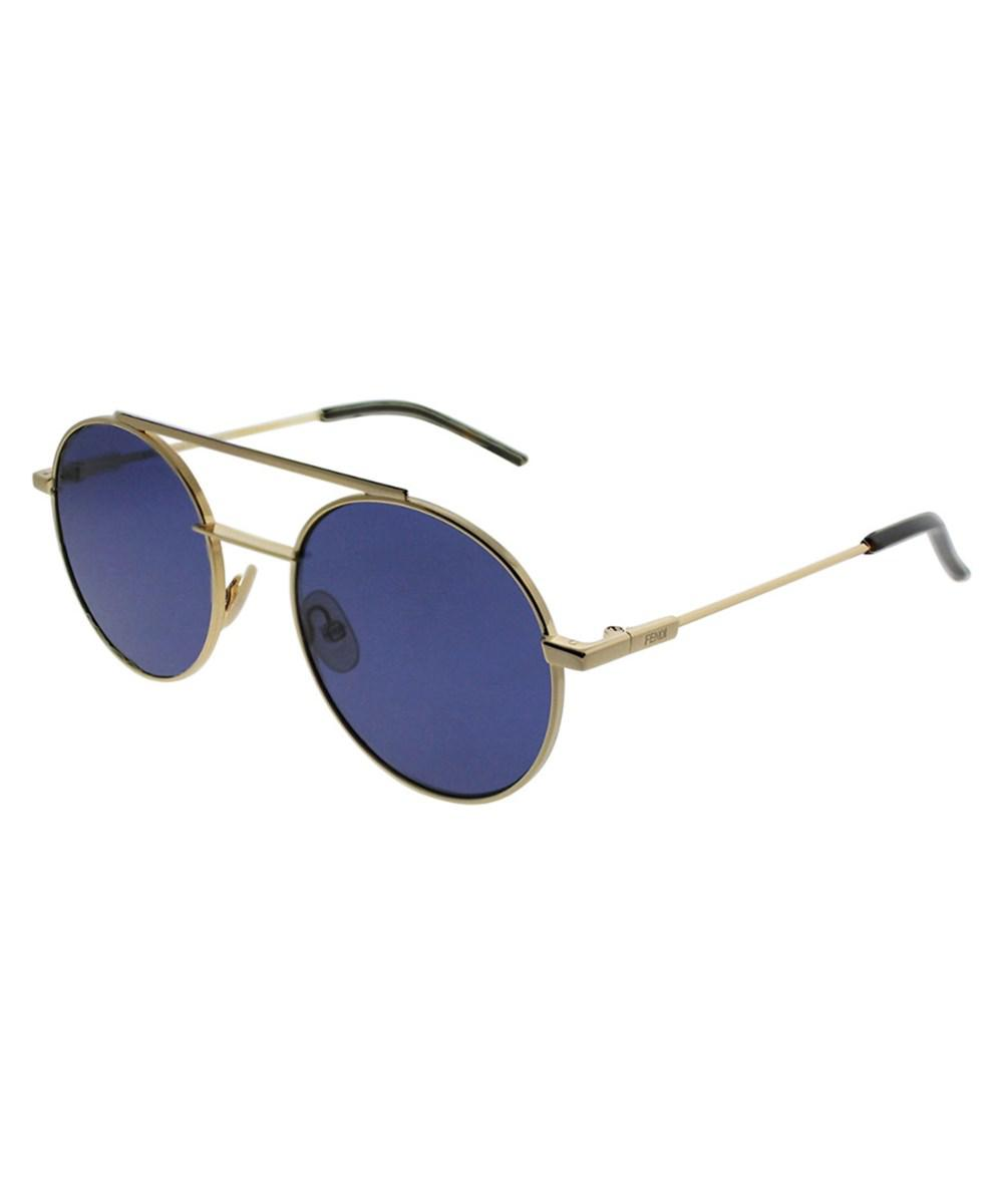 18284f482bc5 Lyst - Fendi Women s Oval 52mm Sunglasses in Blue