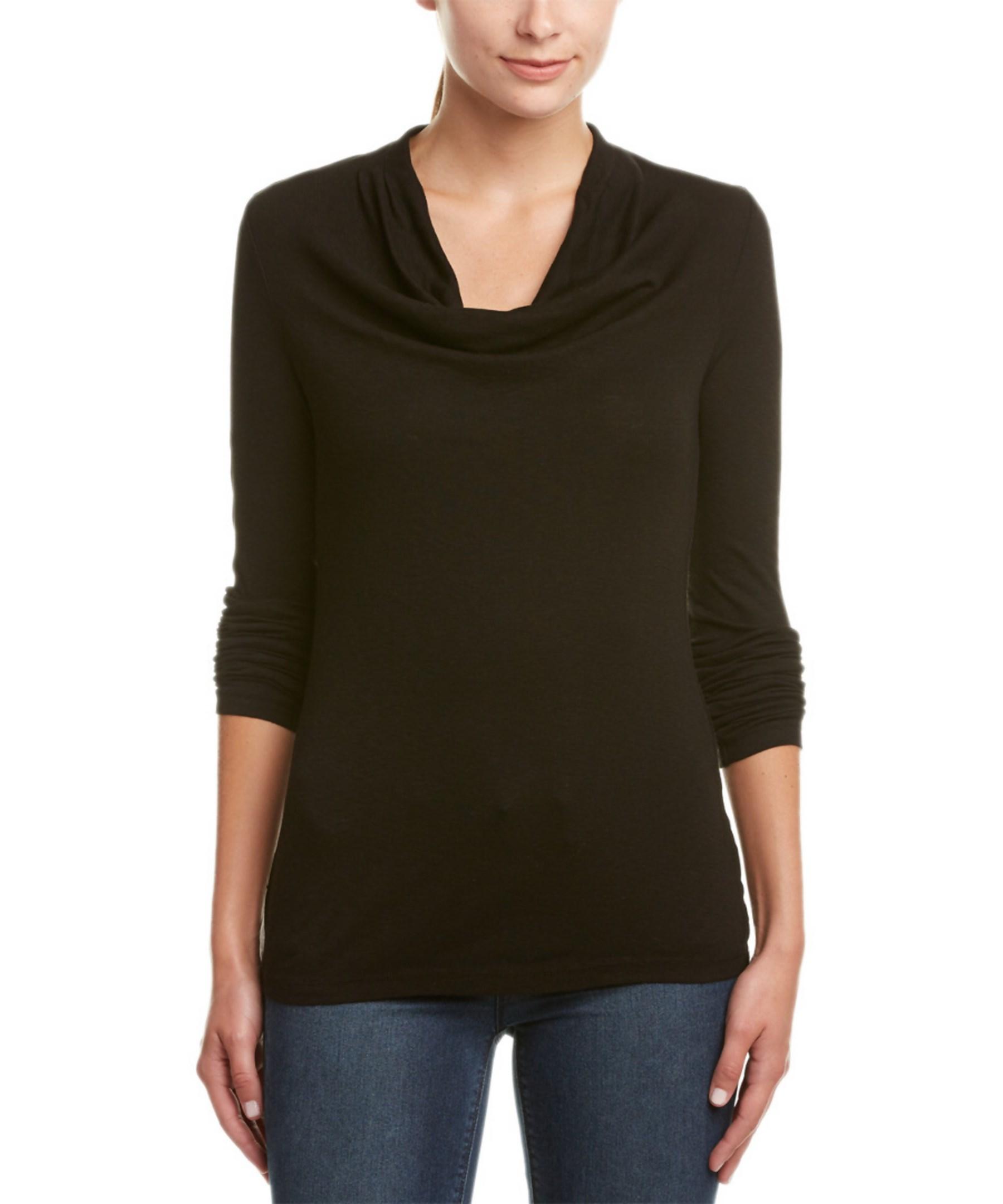Three Dots Alyssa Scoopneck T Shirt In Black Save 66 Lyst