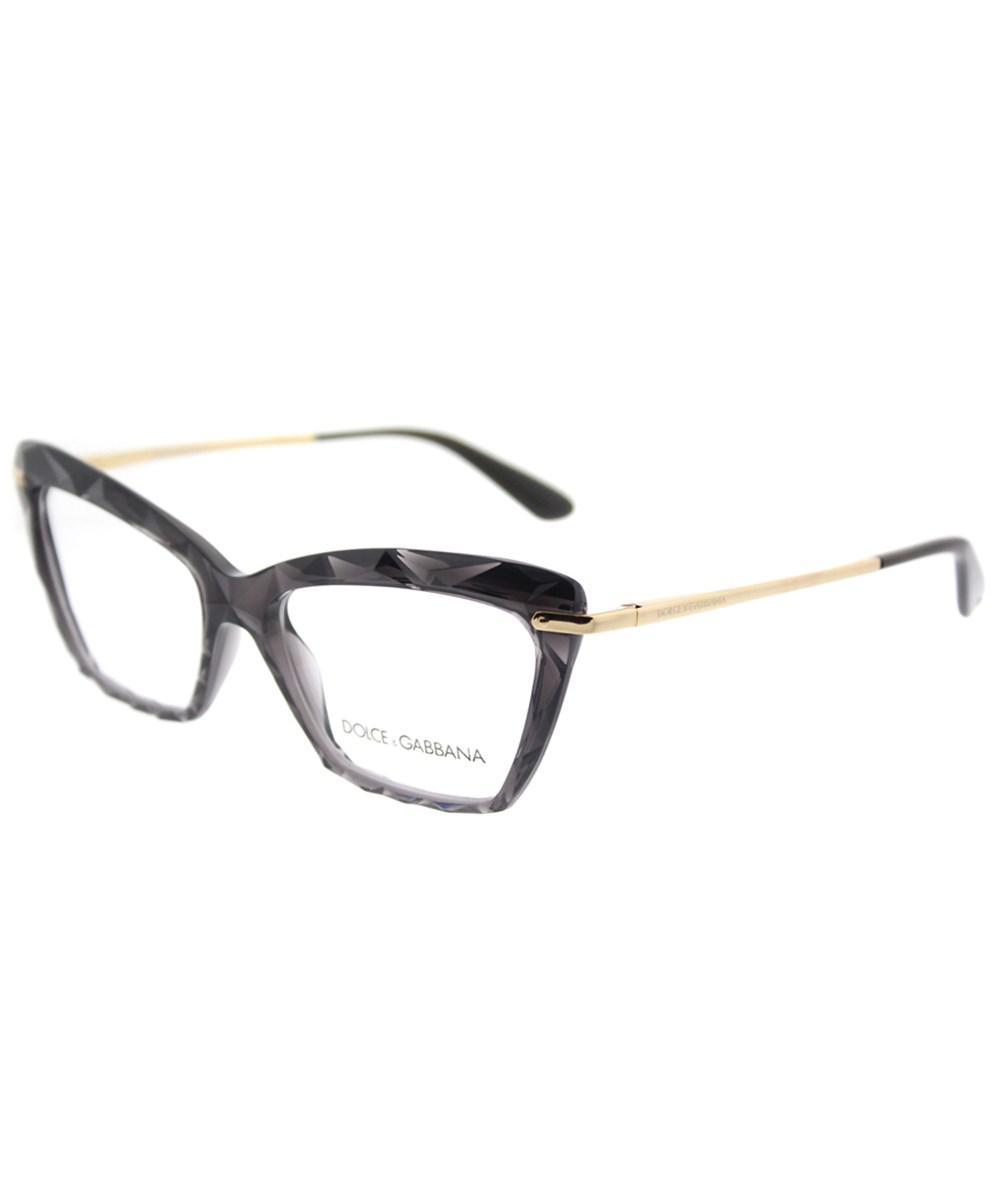 f6564494884 Dolce   Gabbana. Women s Gray Dg 5025 504 53mm Transparent Grey Cat Eye  Eyeglasses