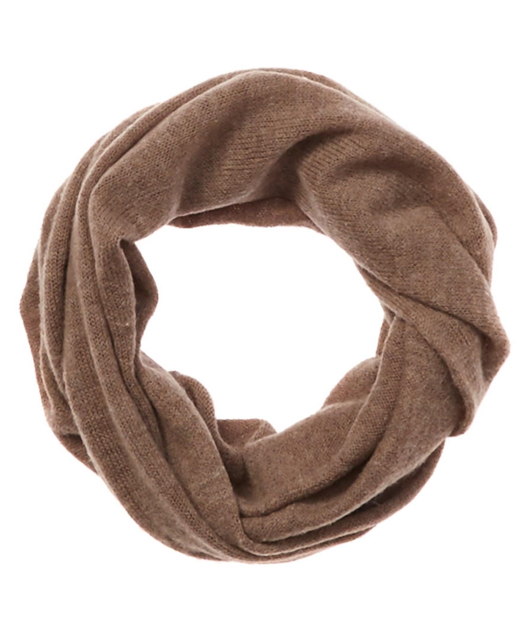 portolano s beige wool eternity scarf in brown lyst