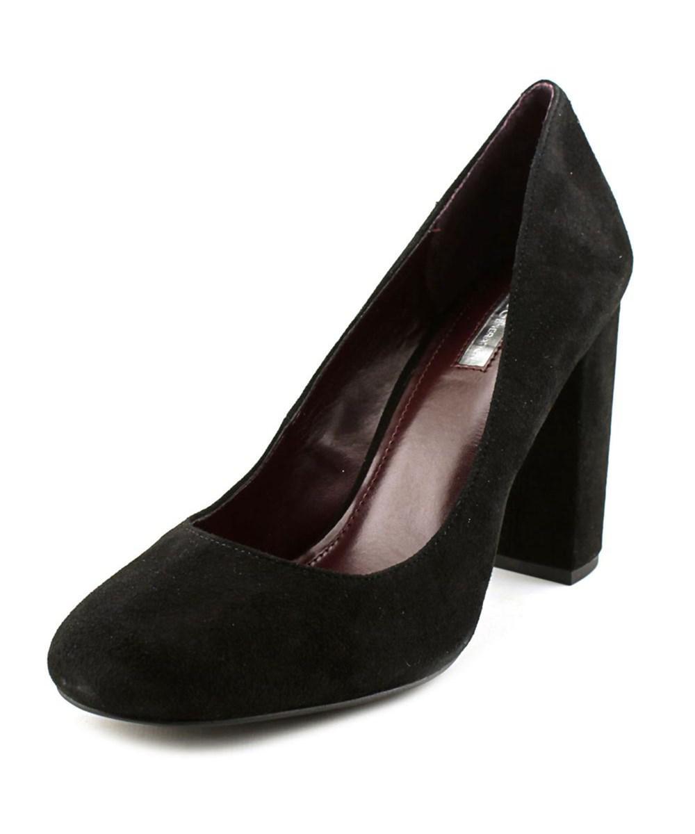 aba6dd328645 Lyst - Bcbgeneration Franka Women Round Toe Suede Black Heels in Black