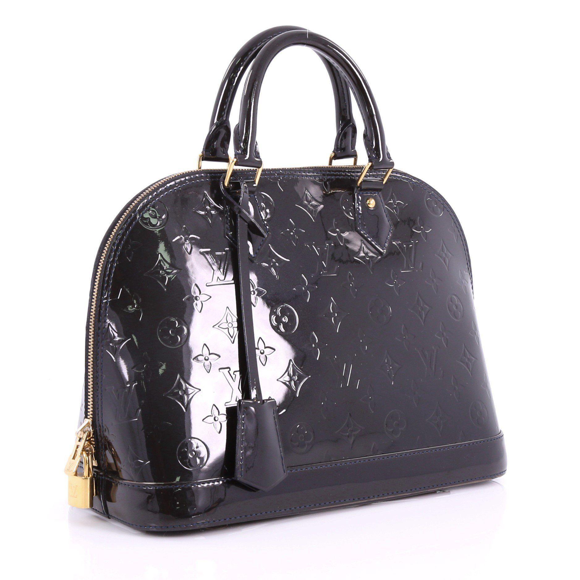 dc302576f6a7 Louis Vuitton - Black Pre Owned Alma Handbag Monogram Vernis Pm - Lyst.  View fullscreen