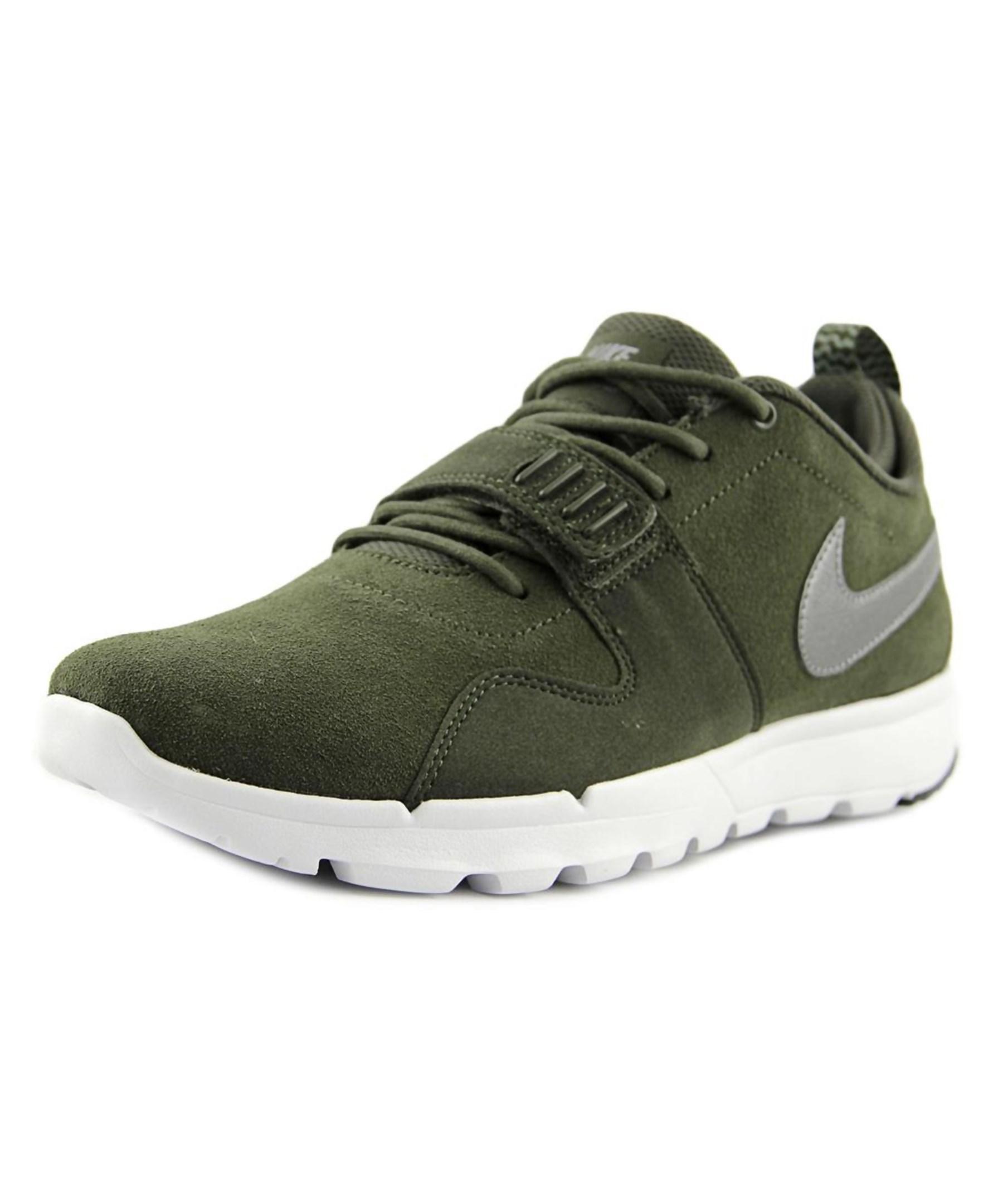 50ce37a3e8ed Nike Trainerendor L Men Round Toe Suede Green Trail .
