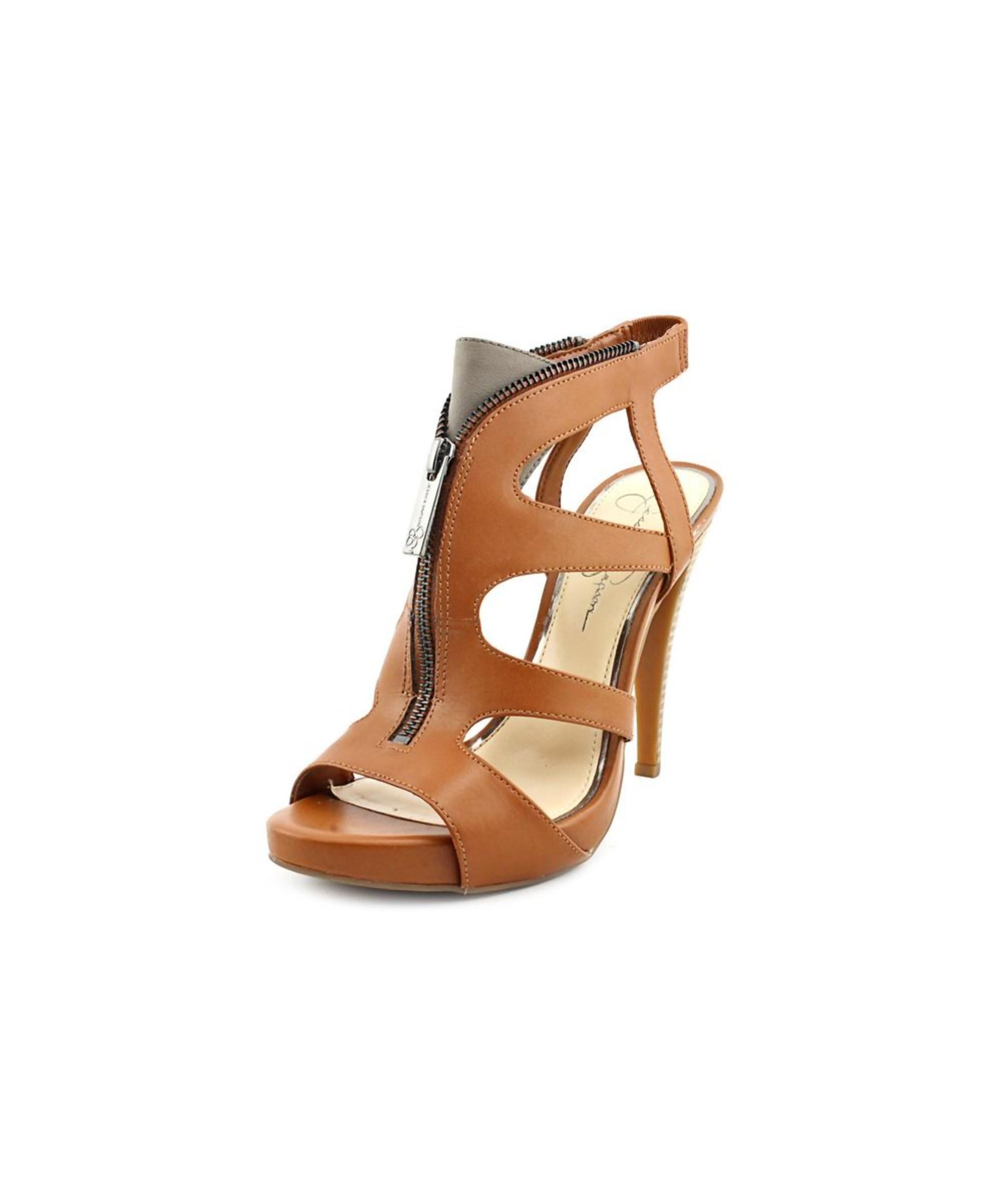Jessica Simpson Carmyne Open Toe Leather Platform Sandal