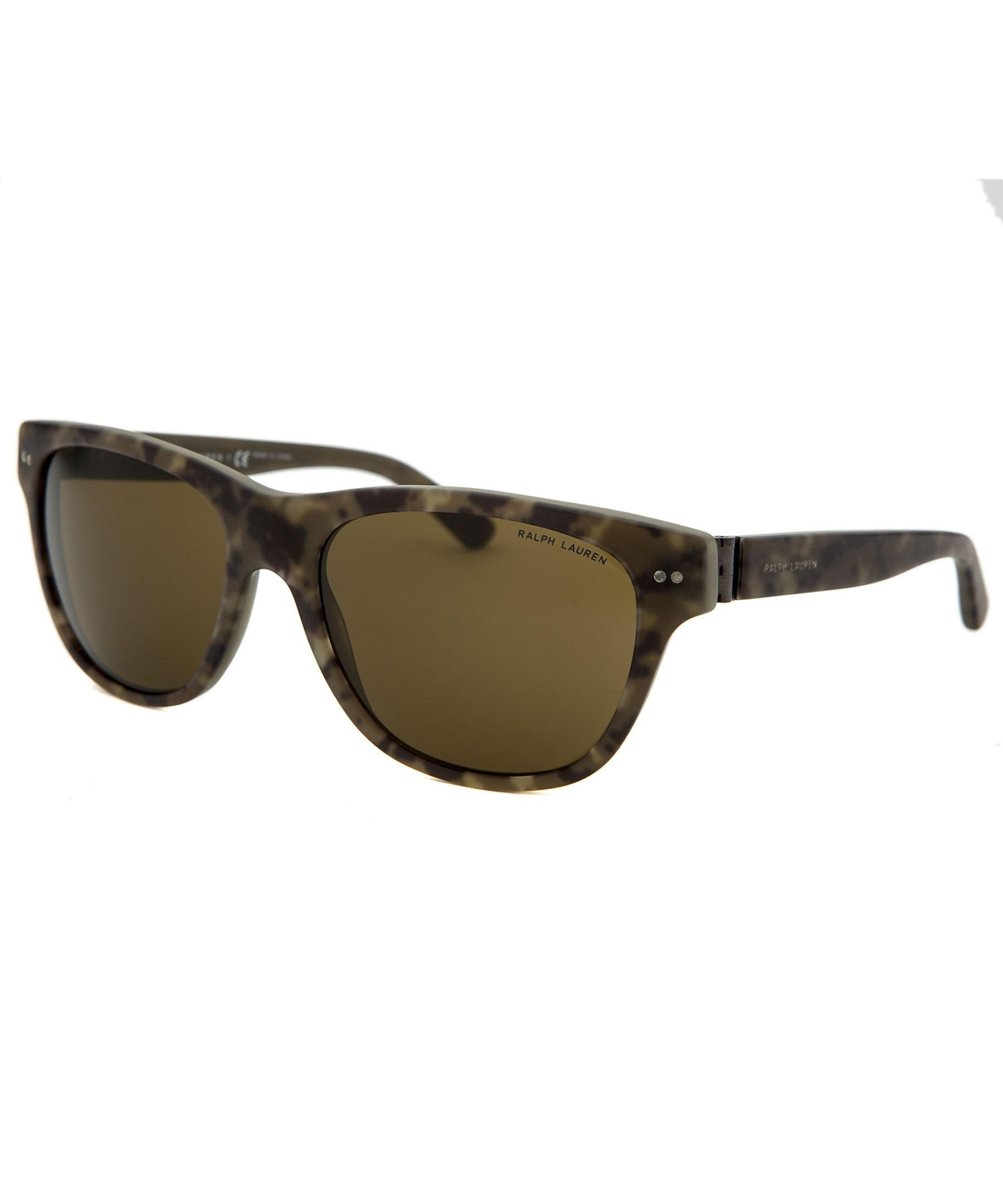 Polo ralph lauren Men's Square Camo Sunglasses for Men