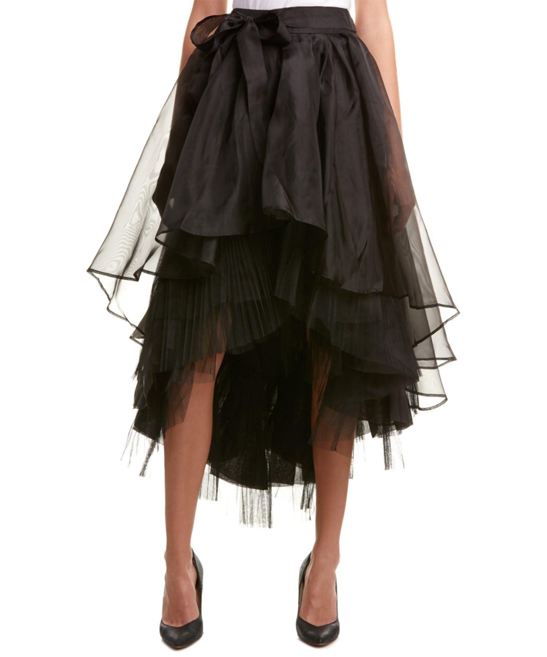 gracia highlow skirt in black lyst